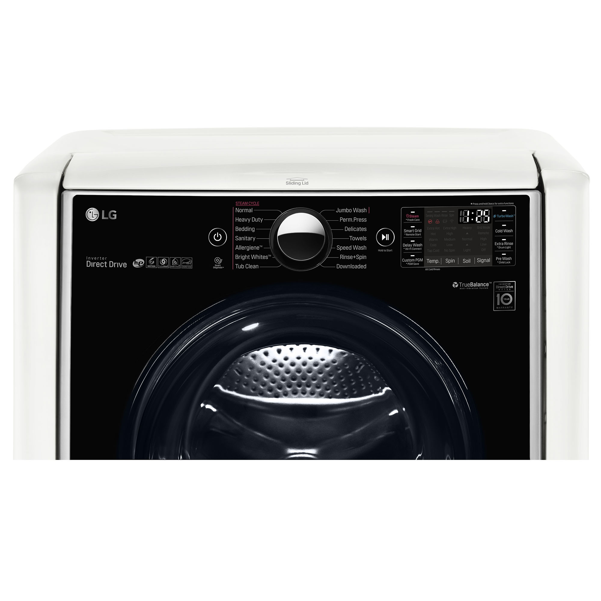 LG WM9000HWA 5.2 cu. ft. Mega Capacity Front Load Washer w/ TWIN Wash™ - White