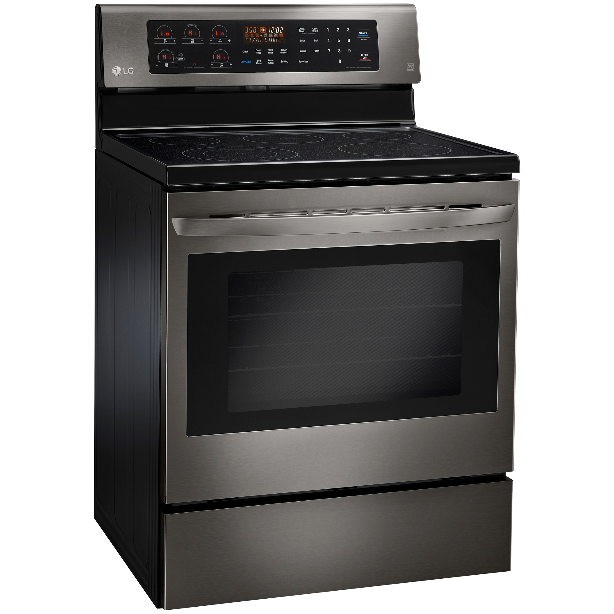 LG LRE3083BD 6.3 cu. ft. Free-Standing Electric Range - Black Stainless Steel