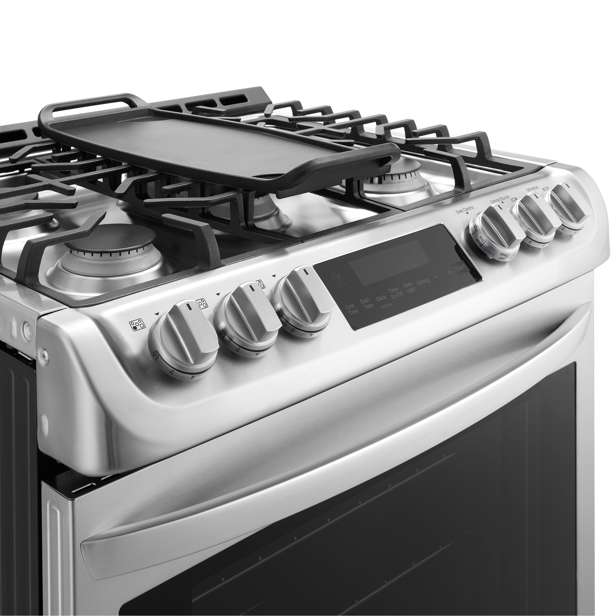 LG LSG4513ST 6.3 cu. ft. Gas Slide-In Range w/ ProBake Convection™ & EasyClean® – Stainless Steel