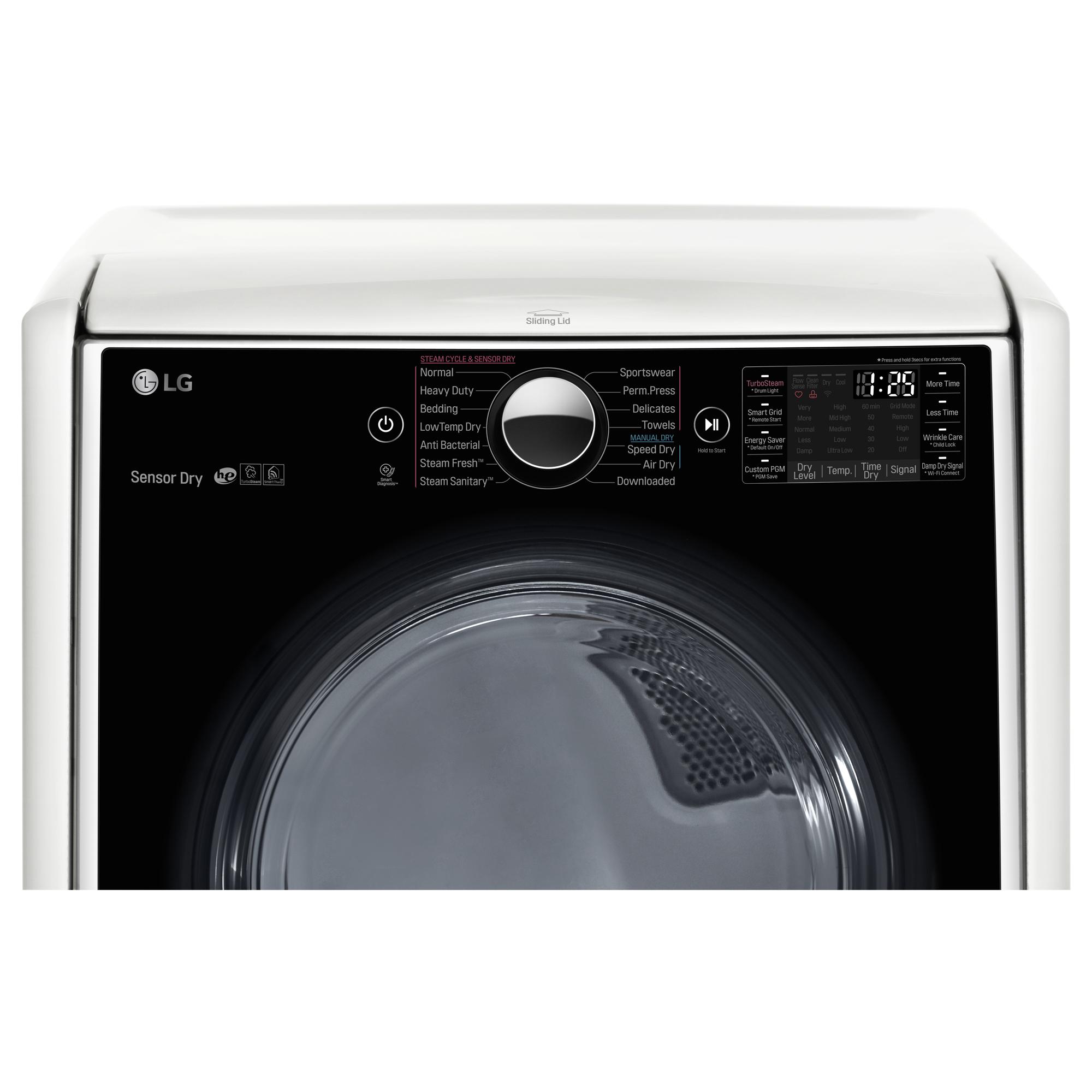 LG DLGX5001W 7.4 cu. ft. Gas Dryer w/ TurboSteam™ Technology – White