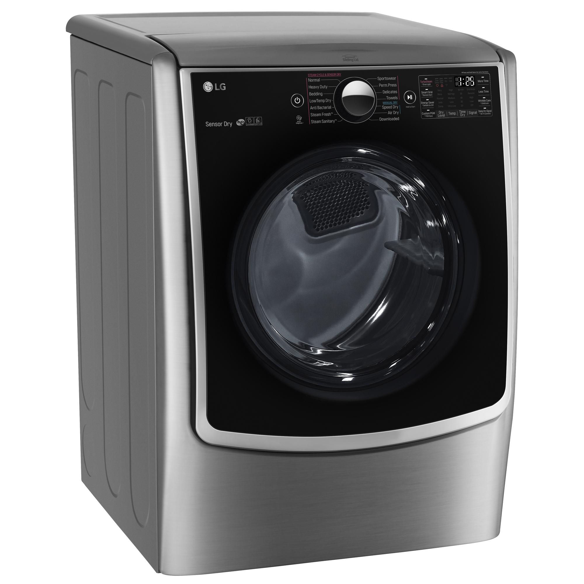 LG DLGX5001V 7.4 cu. ft. Gas Dryer w/ TurboSteam™ Technology – Graphite Steel