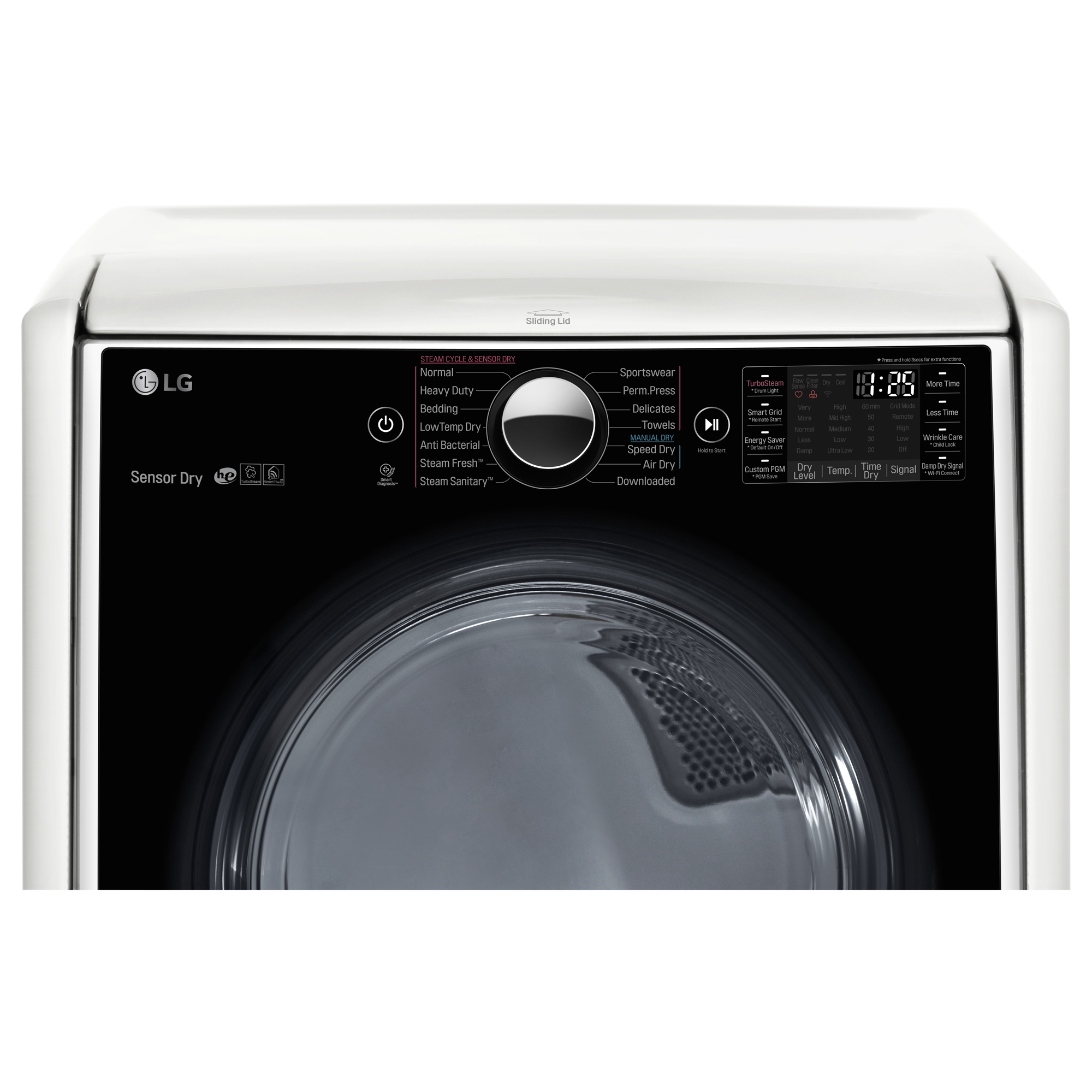 LG DLEX5000W 7.4 cu. ft. Electric Dryer w/ TurboSteam™ Technology – White