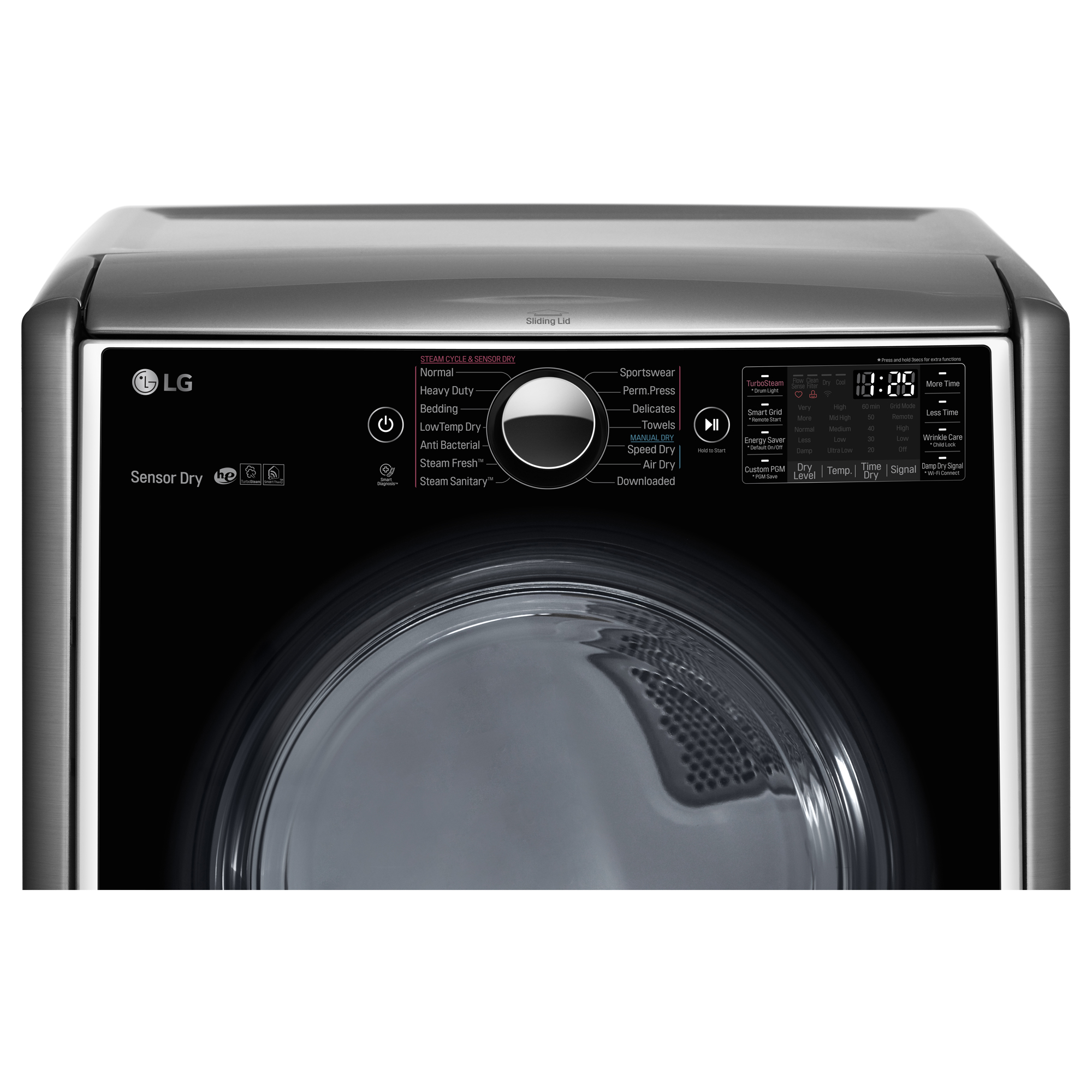 LG DLEX5000V 7.4 cu. ft. Electric Dryer w/ TurboSteam™ Technology – Graphite Steel