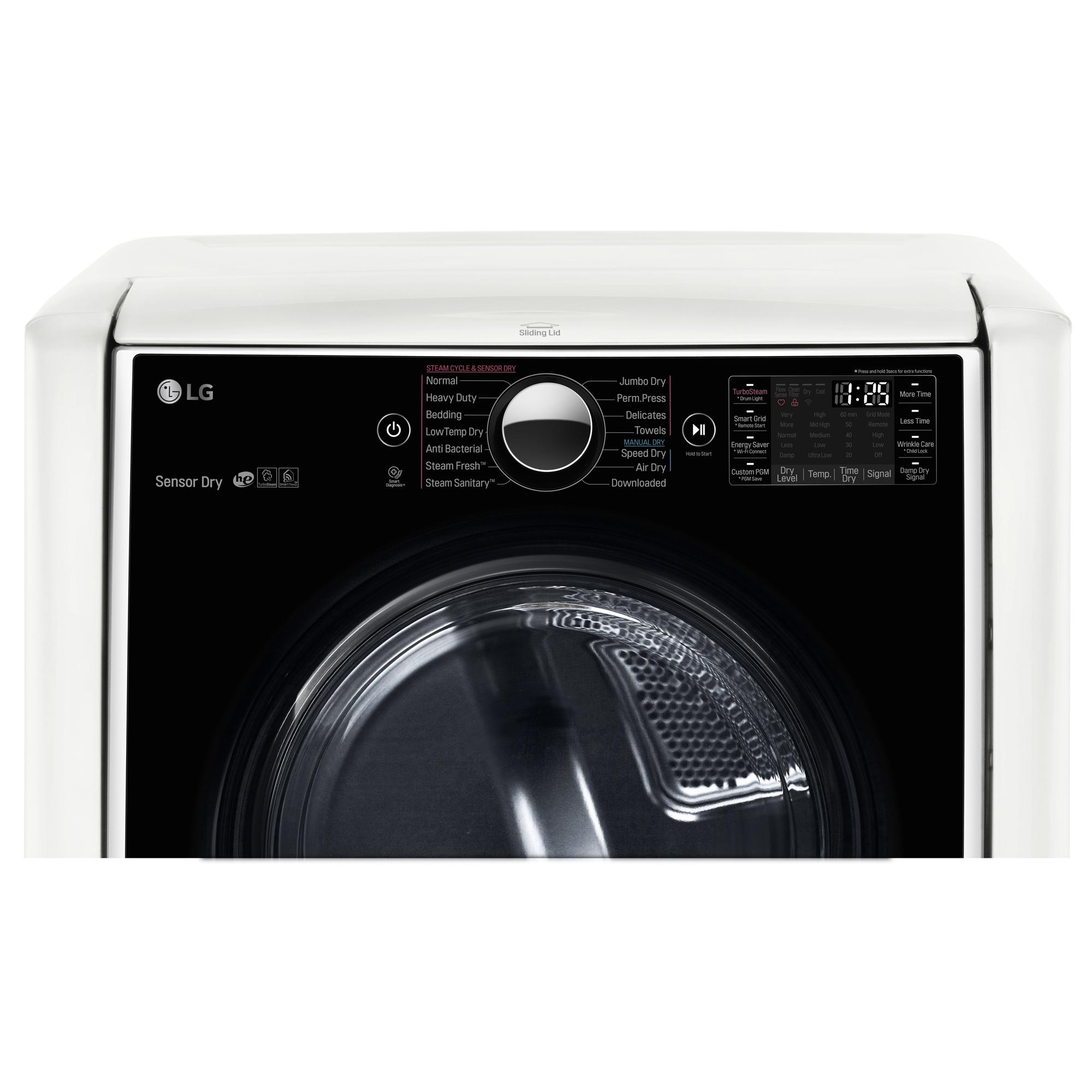 LG DLGX9001W 9.0 cu. ft. Mega Capacity Gas Dryer w/ TurboSteam™ – White