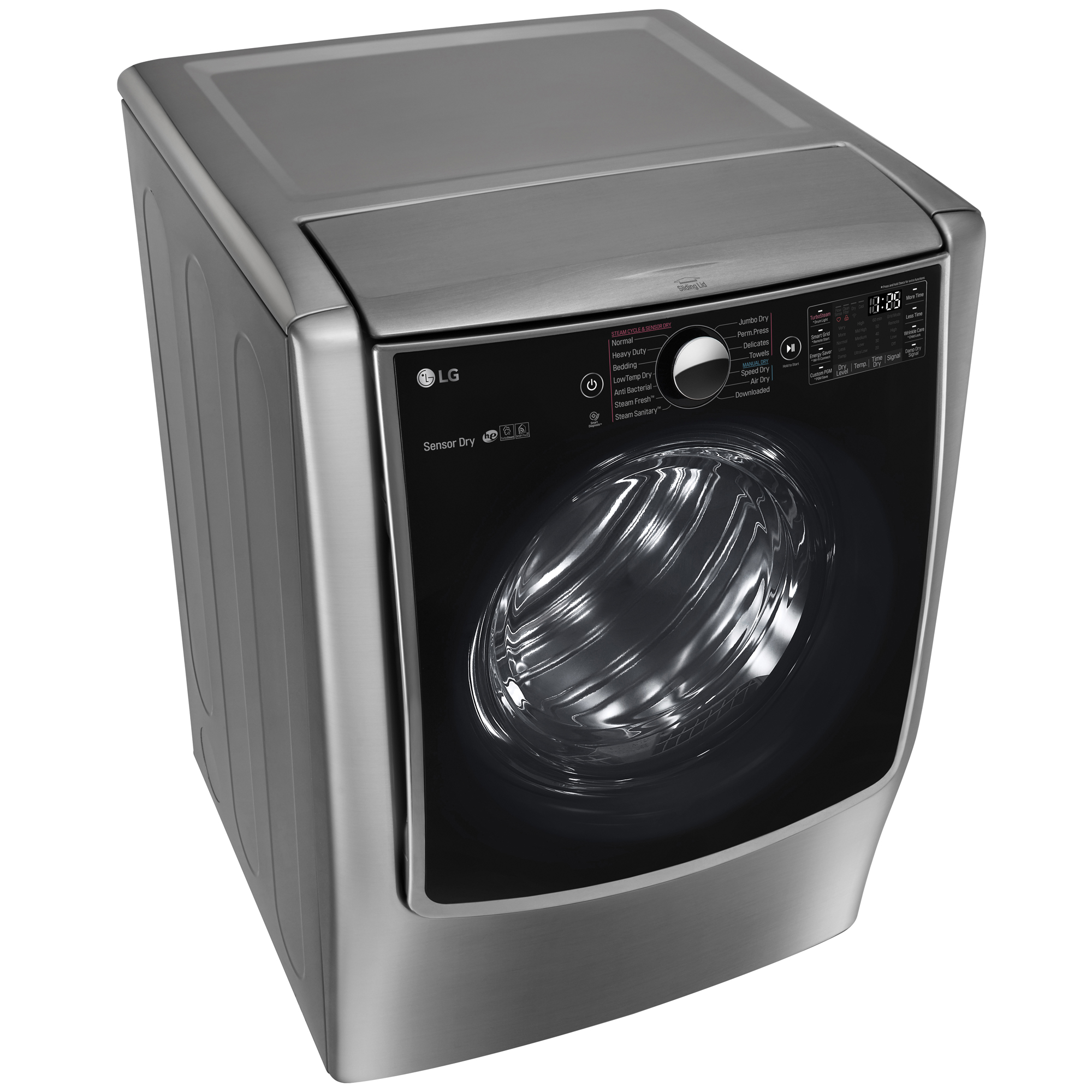 LG DLGX9001V 9.0 cu. ft. Mega Capacity Gas Dryer w/ TurboSteam™ – Graphite Steel