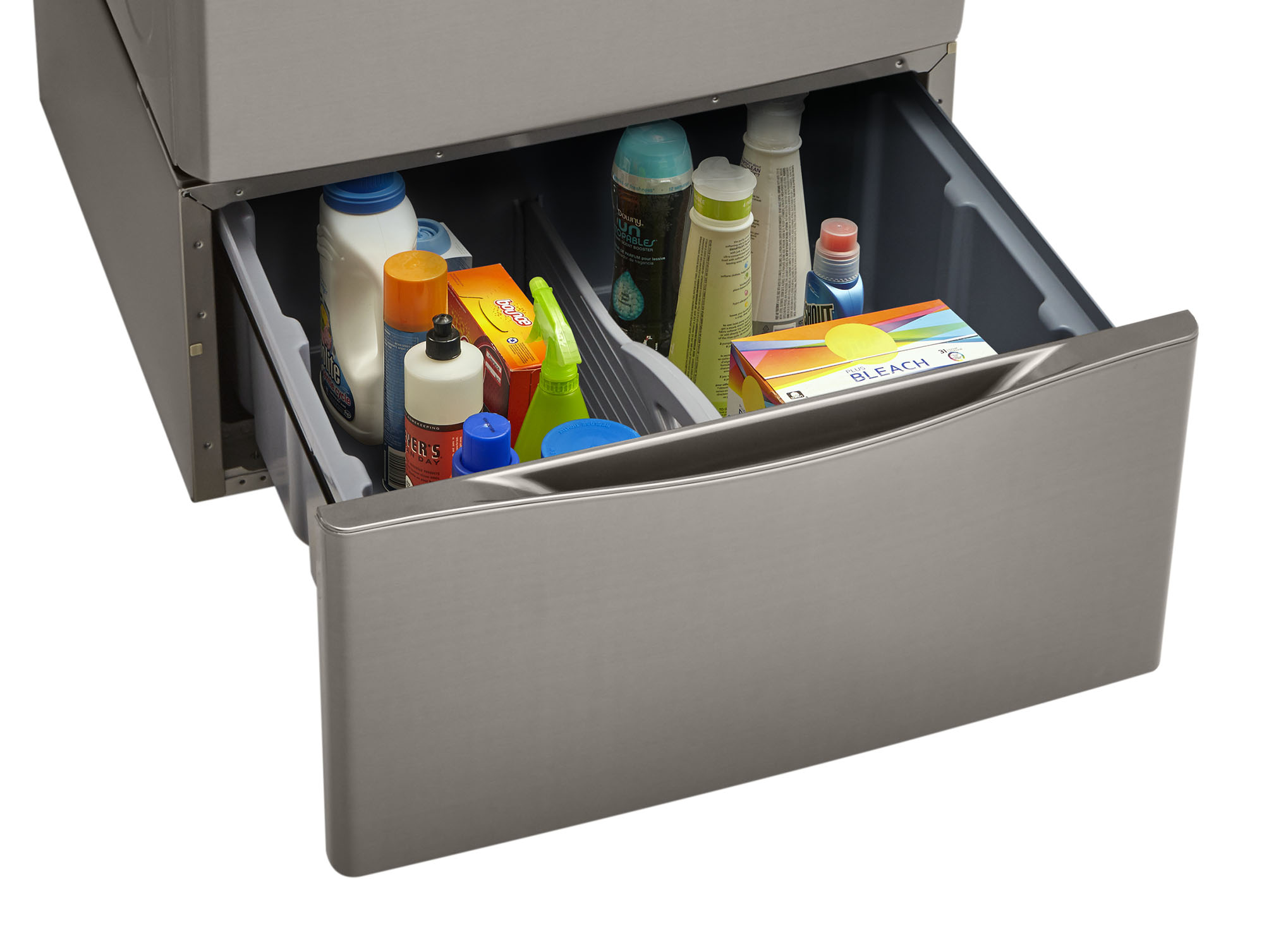 "Kenmore 13.7"" Laundry Pedestal w/ Storage Drawer - Metallic Silver"
