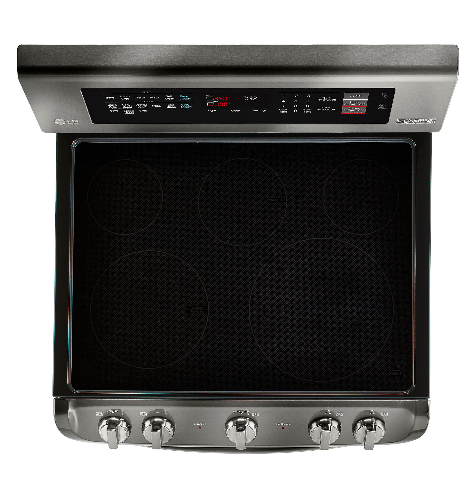 LG LDE4415BD 7.3 cu. ft. Double-Oven Electric Range w/ProBake Convection™ & EasyClean® – Black Stainless Steel