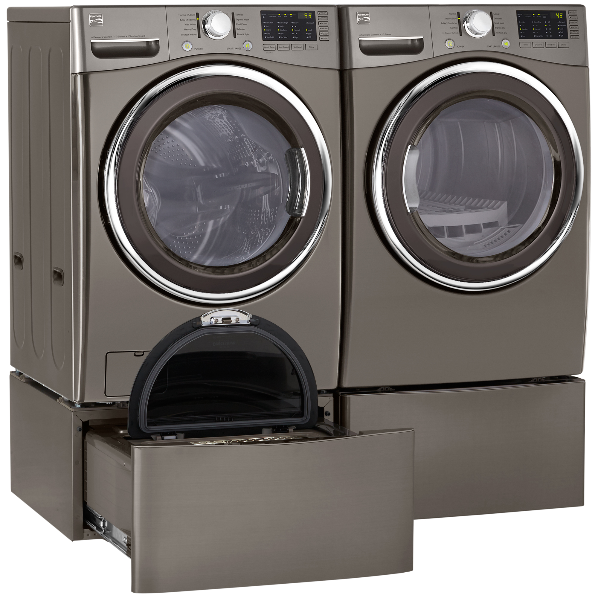 Kenmore 41383 4.3 cu. ft. Front-Load Washer w/Steam - Metallic Silver