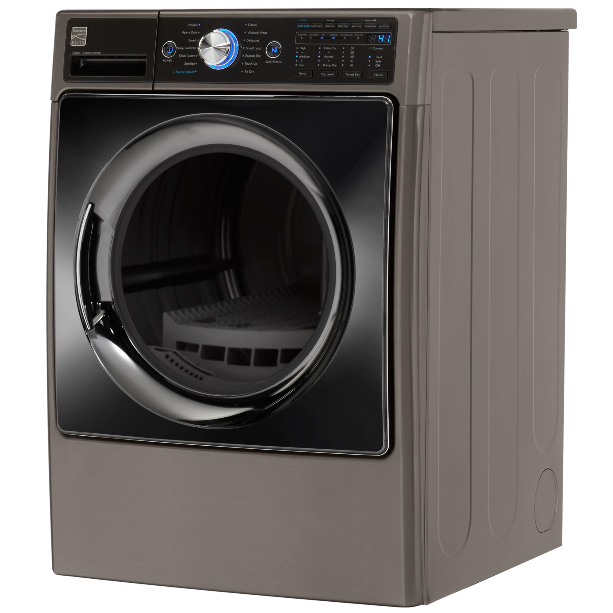 Kenmore Elite 91583 7.4 cu. ft. Gas Dryer with Steam – Metallic Silver