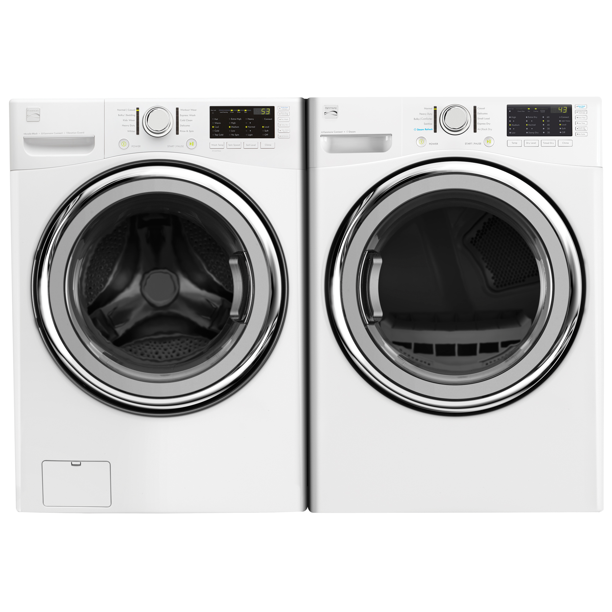 4.5 cu. ft. Front-Load Washer w/Accela Wash® & 7.4 cu. ft. Dryer - White