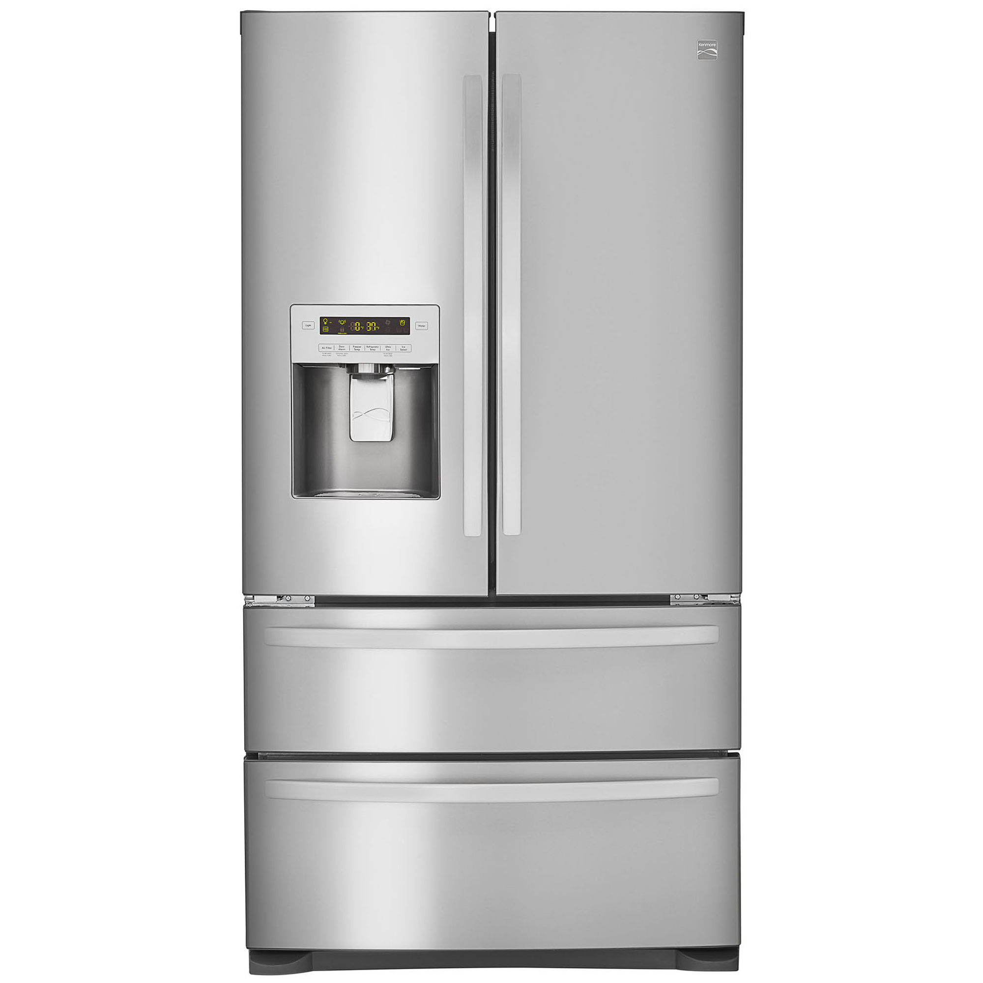 Kenmore 72493 26.7 cu. ft. 4-Door French Door Refrigerator w/Dual Freezer Drawers – Stainless Steel