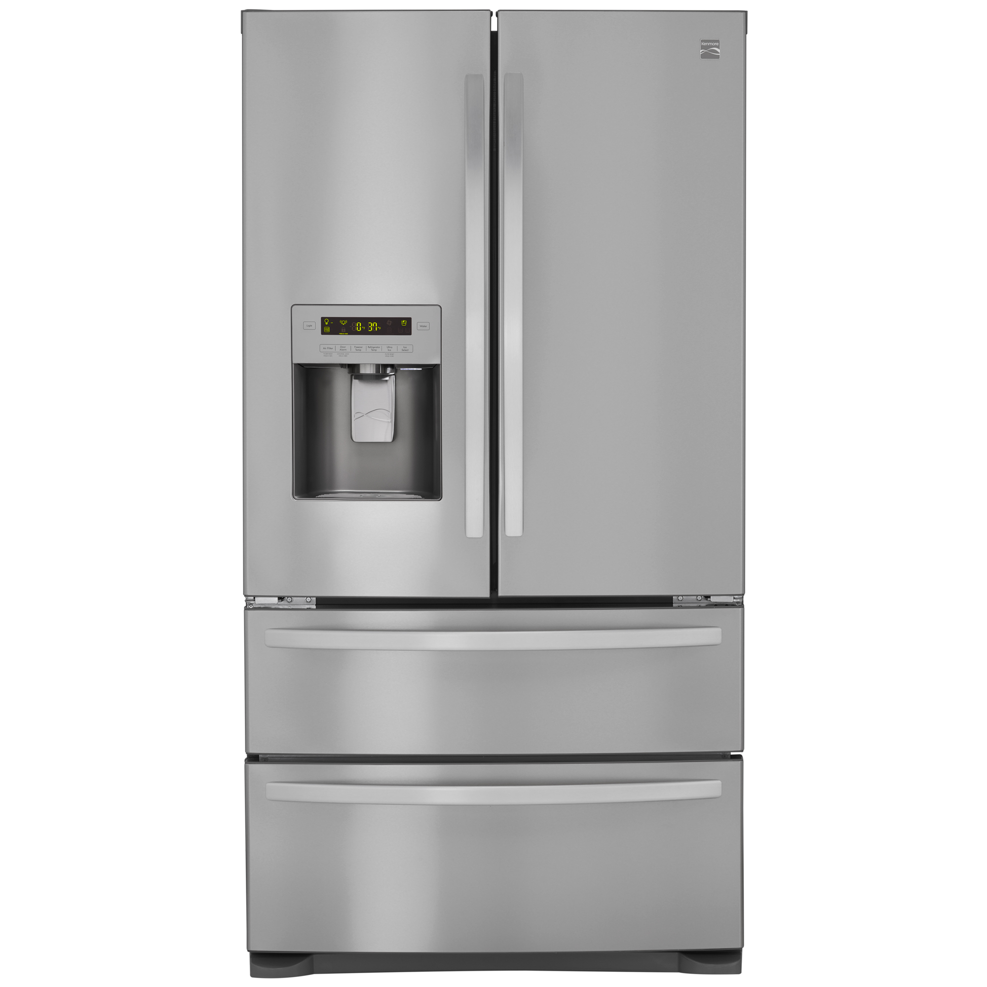 Kenmore 72495 26.7 cu. ft. 4-Door French Door Refrigerator w/Dual Freezer Drawers – Active Finish™
