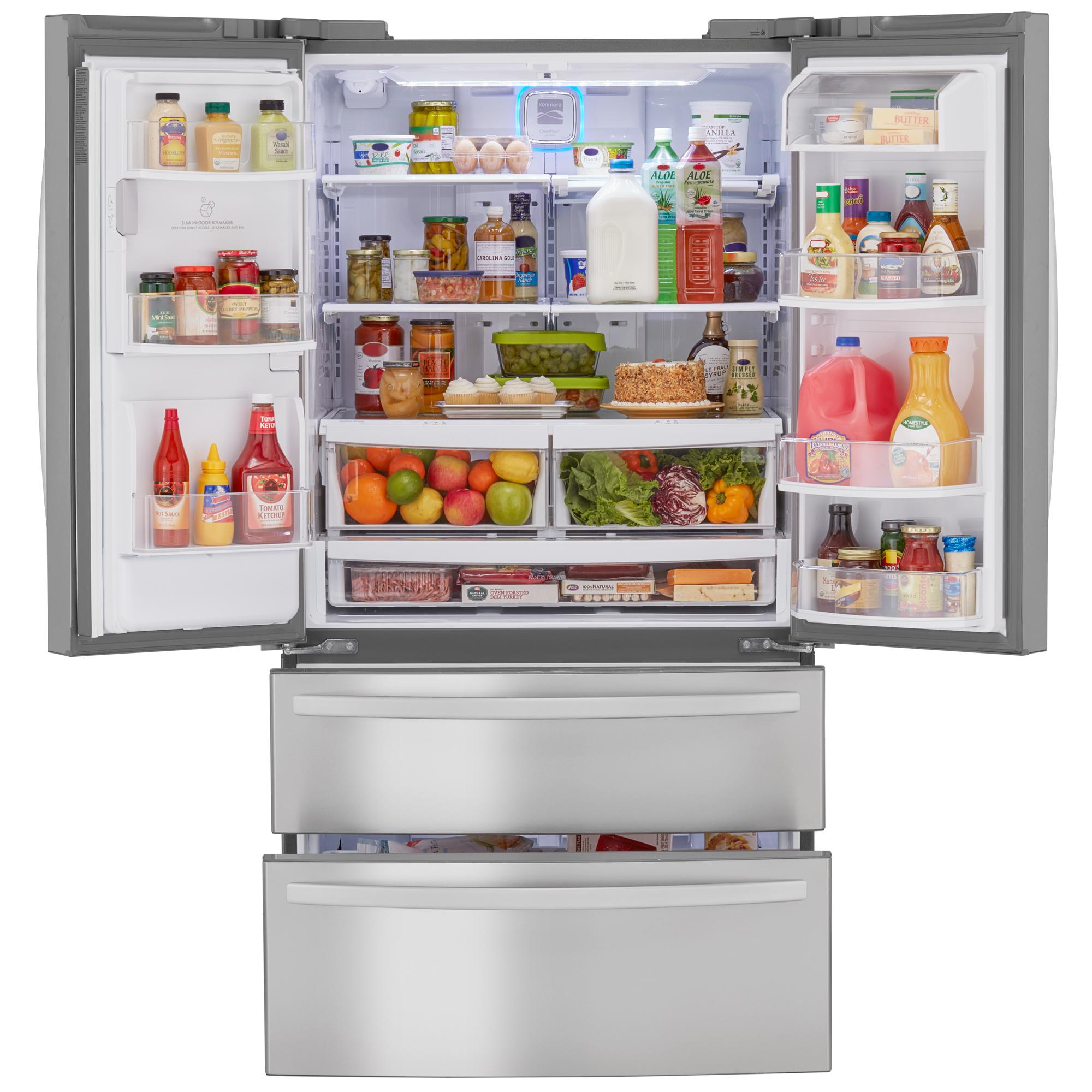 Kenmore 72493 26.7 cu. ft. 4-Door French Door Refrigerator w/Dual Freezer Drawers – Stainless Steel