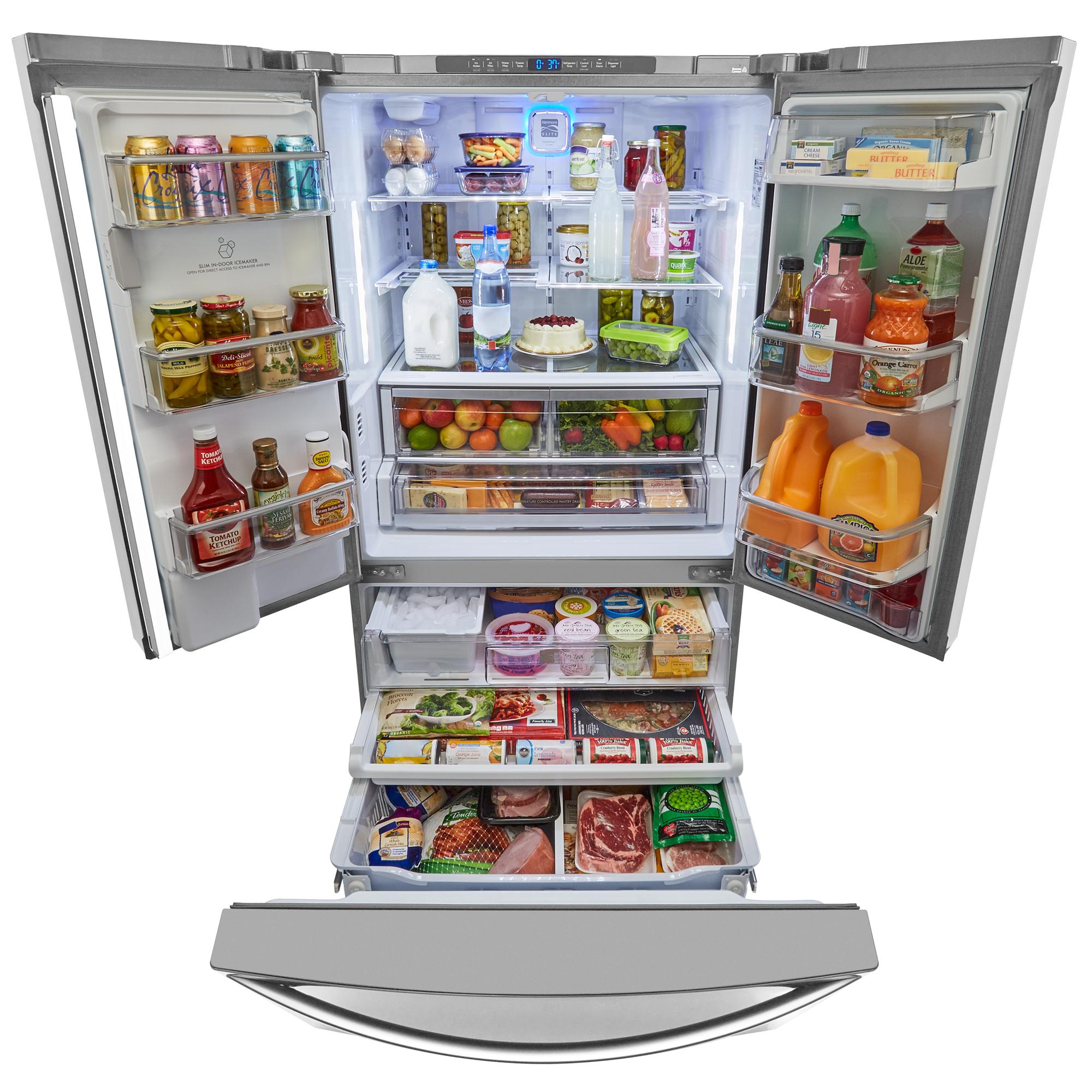 Kenmore Elite 73153 28.7 cu. ft. French Door Bottom Freezer Refrigerator – Stainless Steel