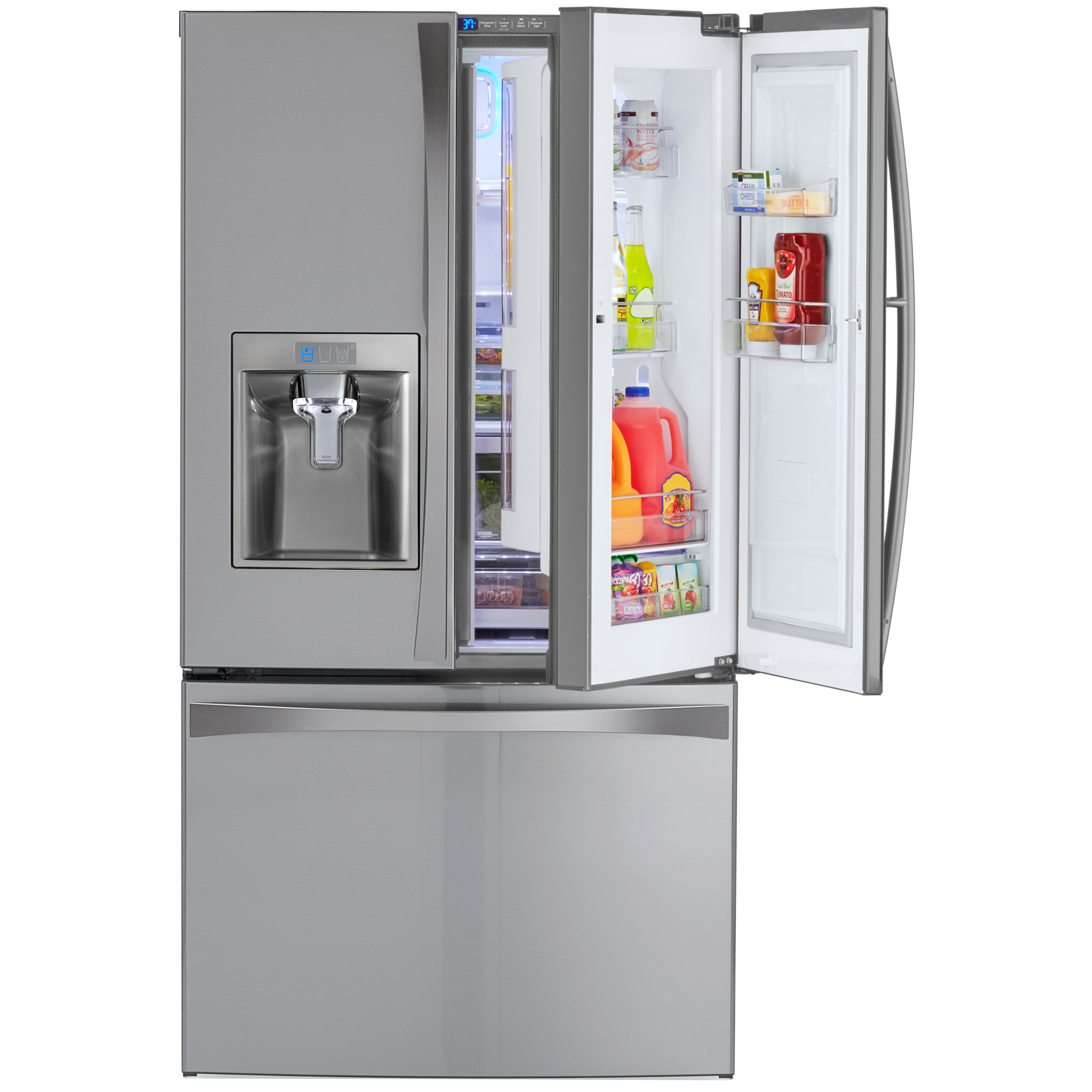 Kenmore Elite 73165 28.5 cu. ft. French Door Bottom Freezer Refrigerator w/ Grab-N-Go™ Door – Active Finish™
