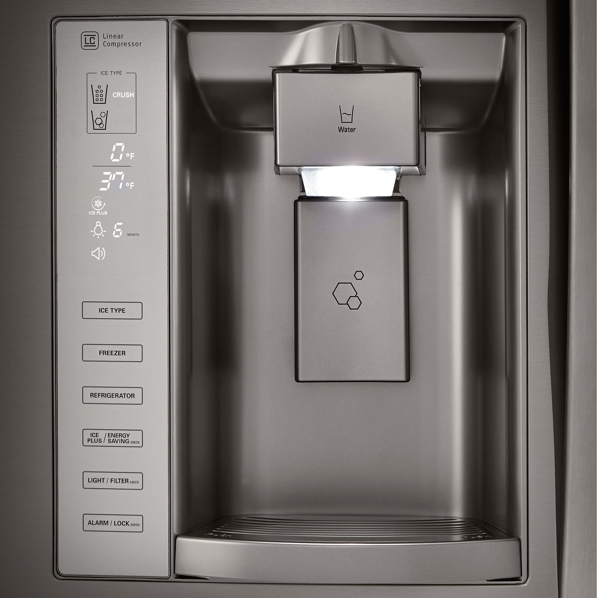 LG LFX25973D 24.1 cu. ft. French Door Bottom-Freezer Refrigerator w/Dual Ice-Maker – Black Stainless