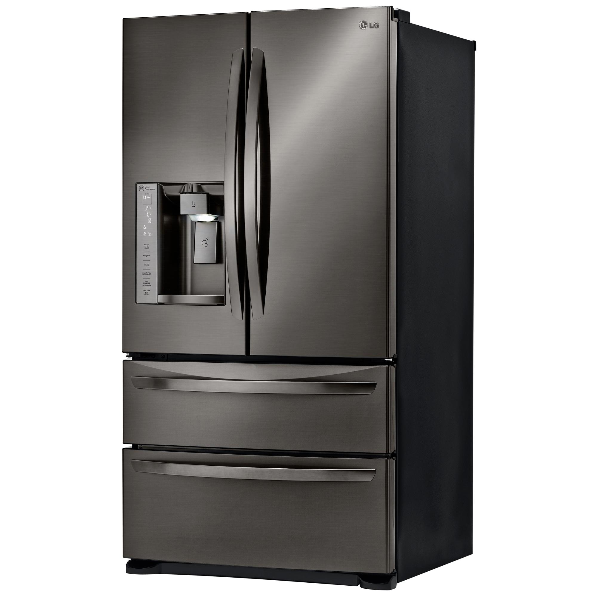 LG LMXS27626D 26.7 cu. ft. 4-Door French Door Refrigerator w/ Dual Freezer Drawers – Black Stainless