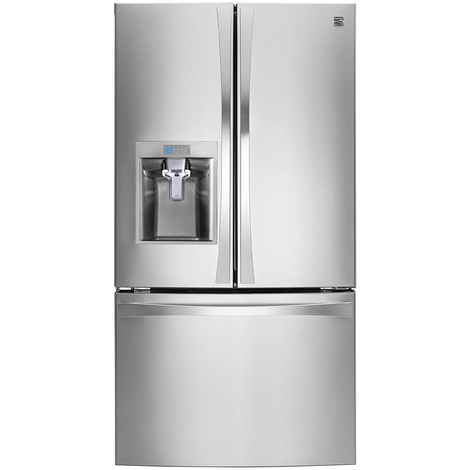 Kenmore Elite 74023 29.8 cu. ft. French Door Bottom-Freezer Refrigerator—Stainless Steel
