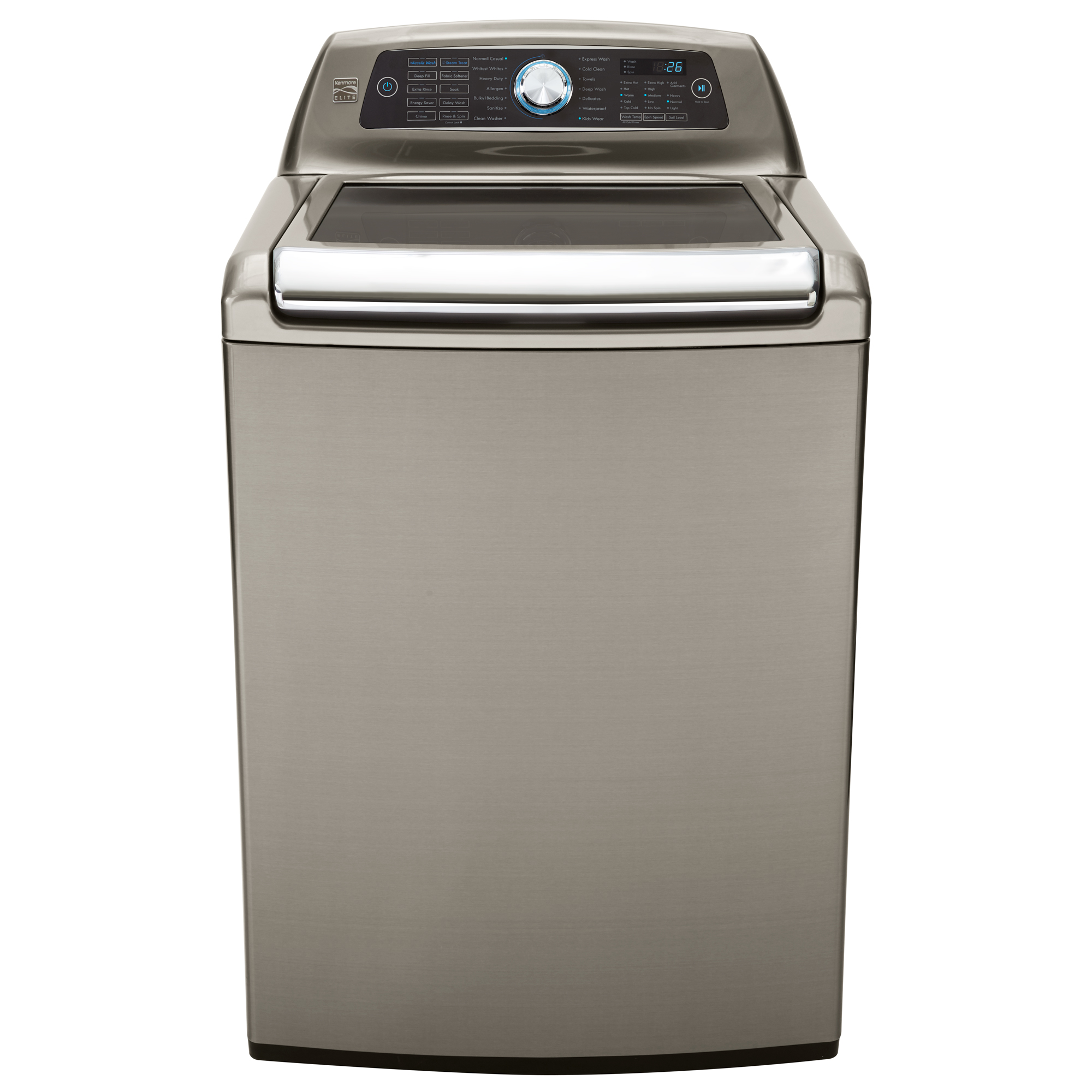 Kenmore Elite 31553 5.2 cu. ft. Top Load Washer w/Steam Treat® & Accela Wash® - Metallic Silver