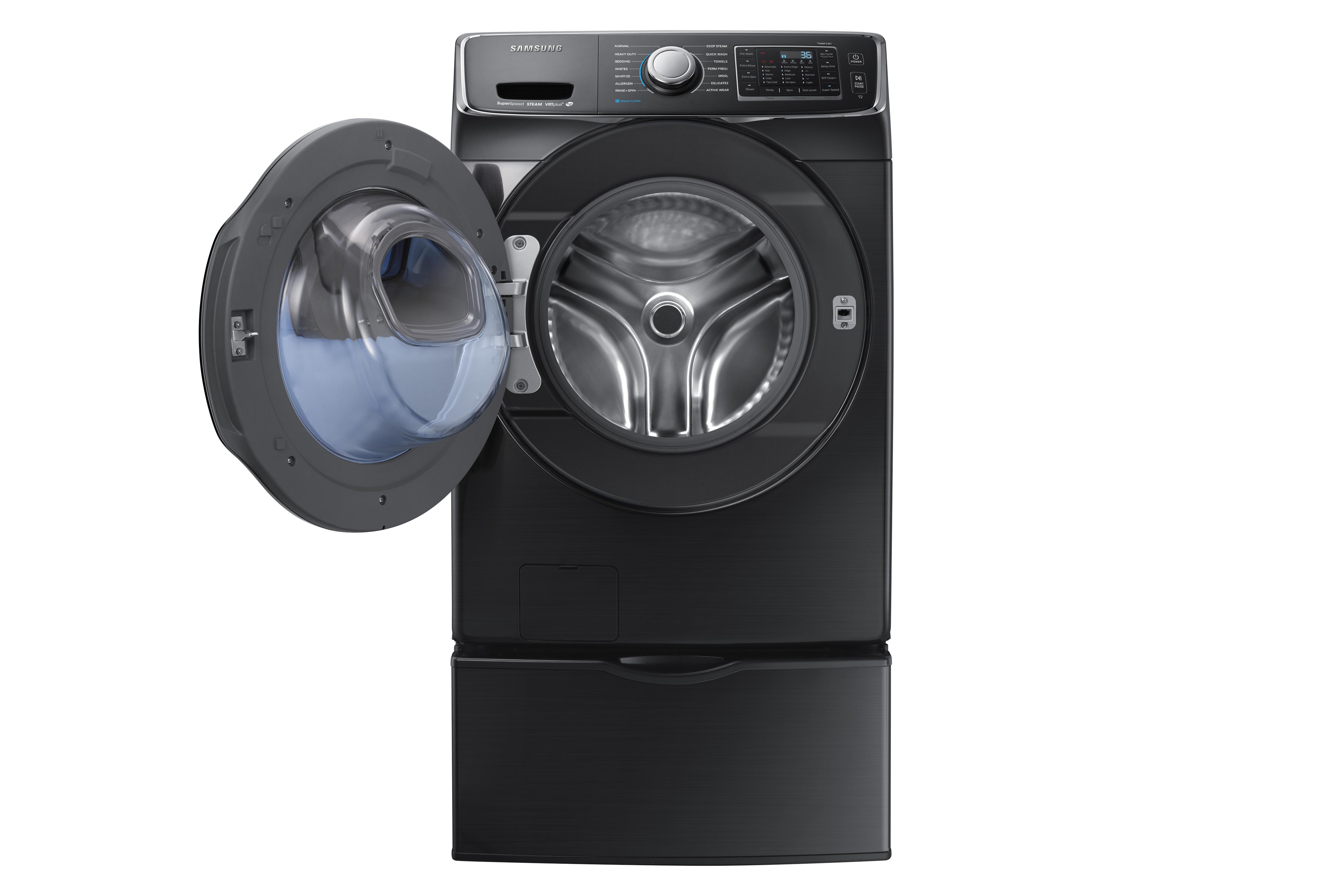 Samsung WF45K6500AV 4.5 cu. ft. AddWash™ Front Load Washer Black Stainless Steel