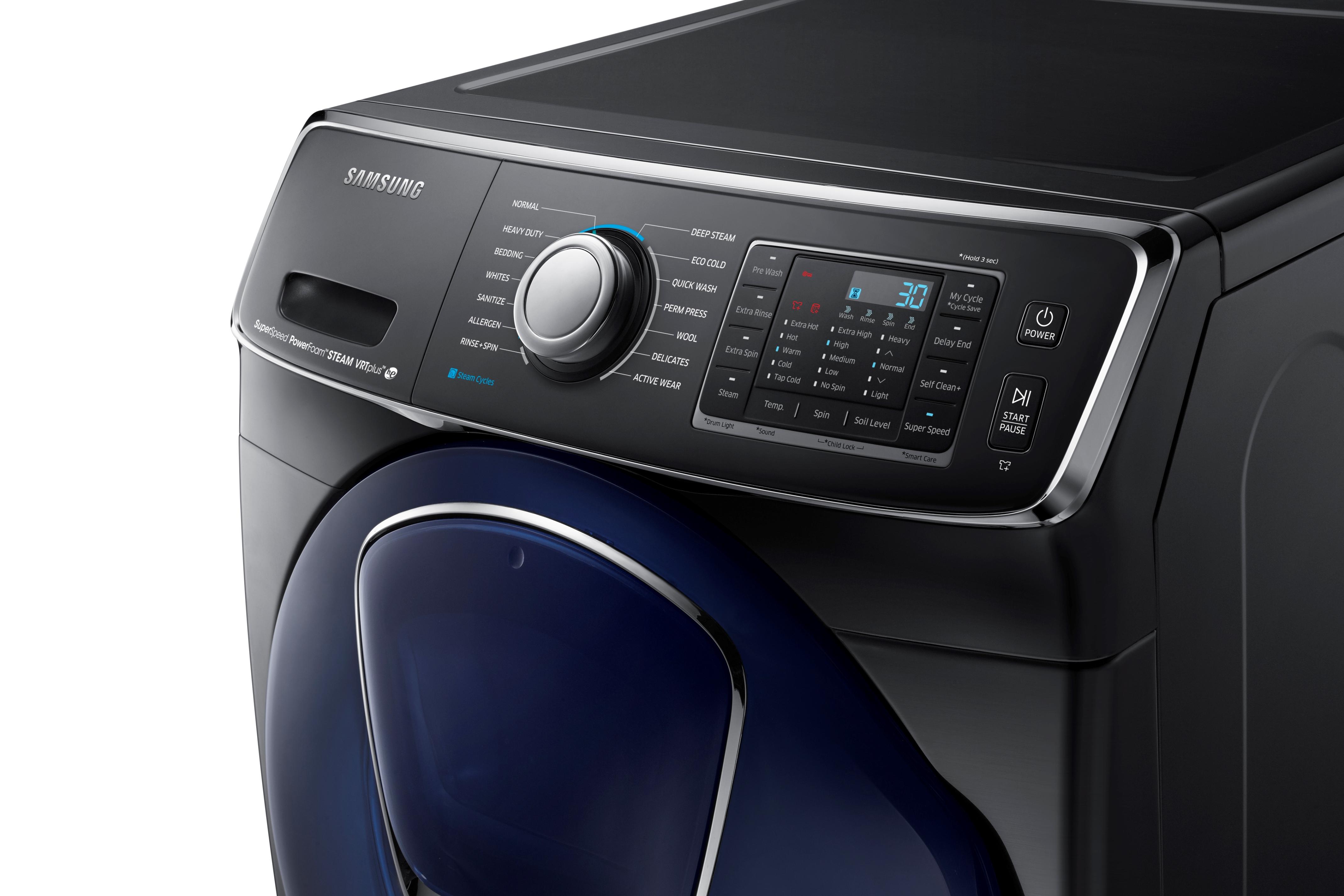 Samsung WF50K7500AV 5.0 cu. ft. AddWash™ Front Load Washer Black Stainless Steel