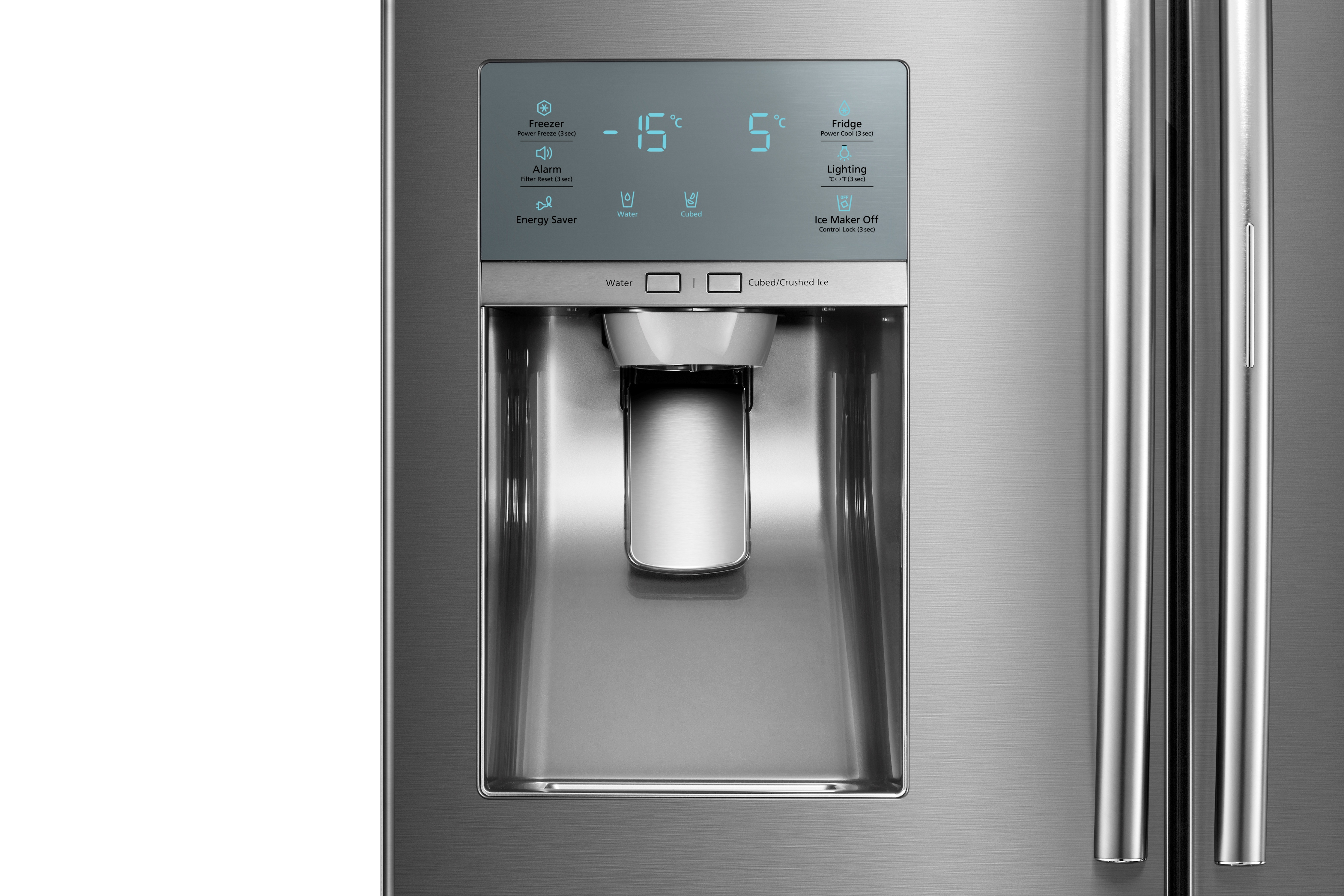 Samsung RF28JBEDBSR 28 cu. ft. Capacity 4-Door French Door Food Showcase Refrigerator Stainless Steel