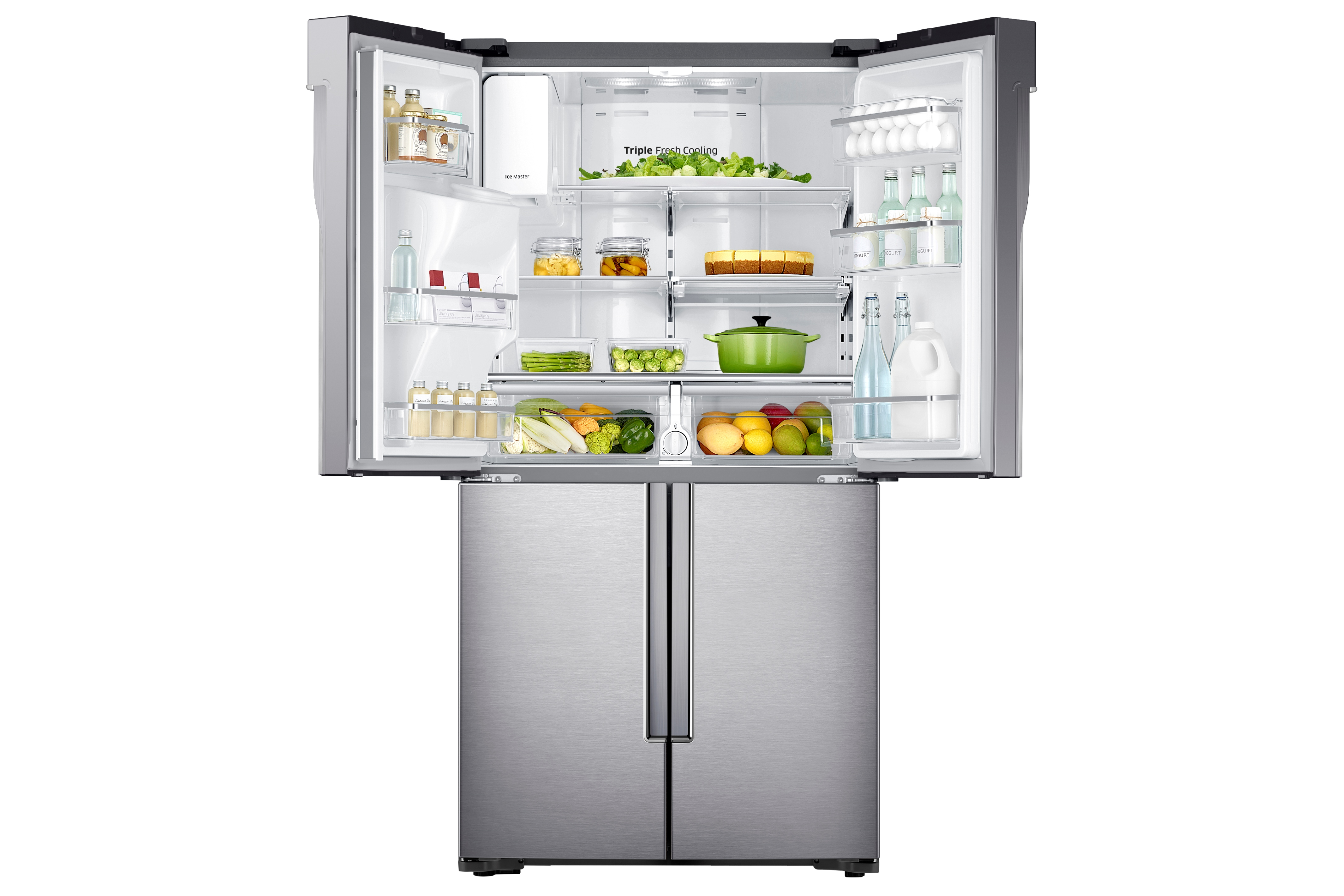 Samsung RF23J9011SR 23 cu. ft. Capacity Counter Depth 4-Door Flex™ Refrigerator with FlexZone™ Stainless Steel