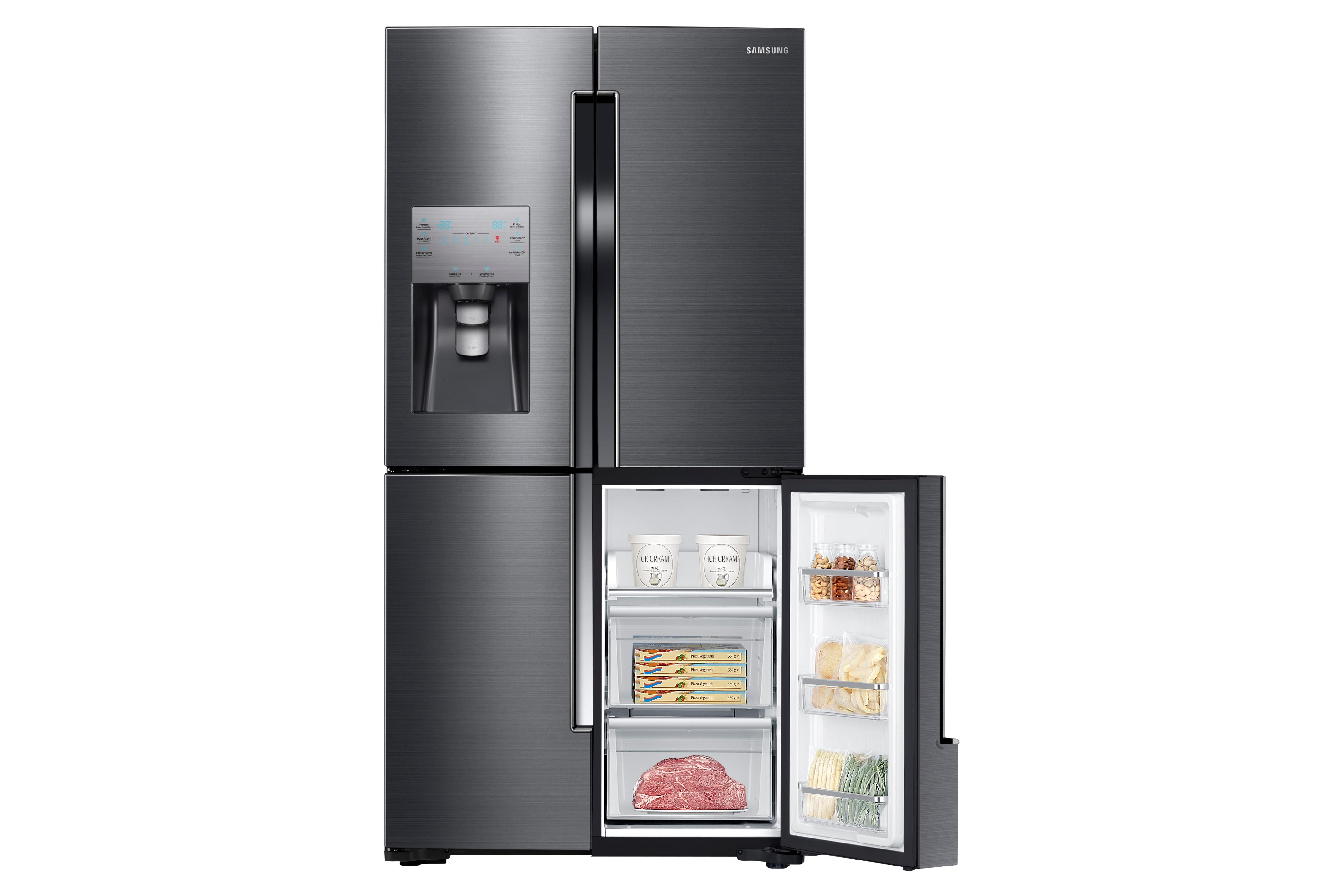 Samsung RF23J9011SG 23 cu. ft. Capacity Counter Depth 4-Door Flex™ Refrigerator with FlexZone™ Black Stainless Steel