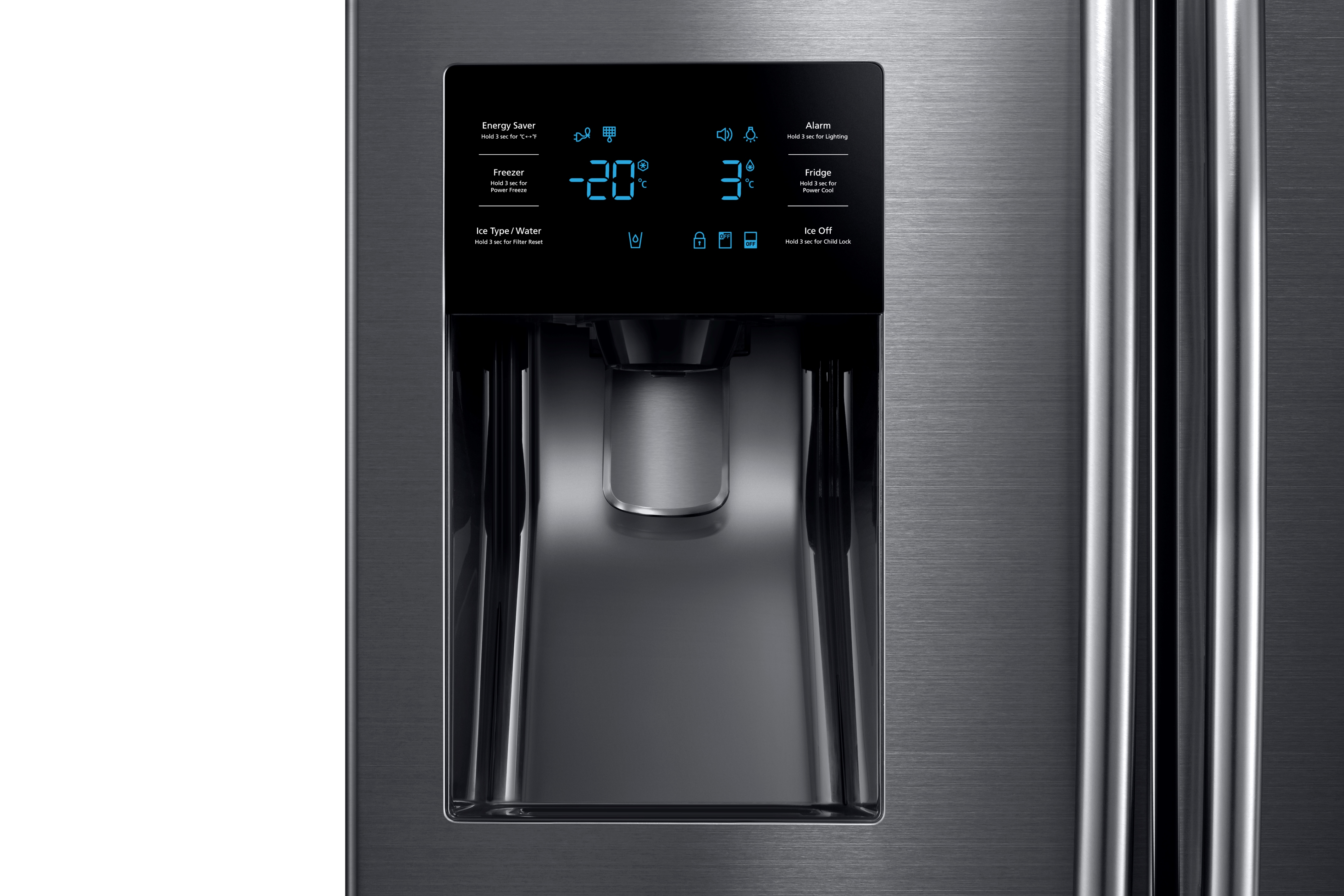 Samsung RF263BEAESG 25 cu.ft. French Door with External Water & Ice Dispenser Black Stainless Steel