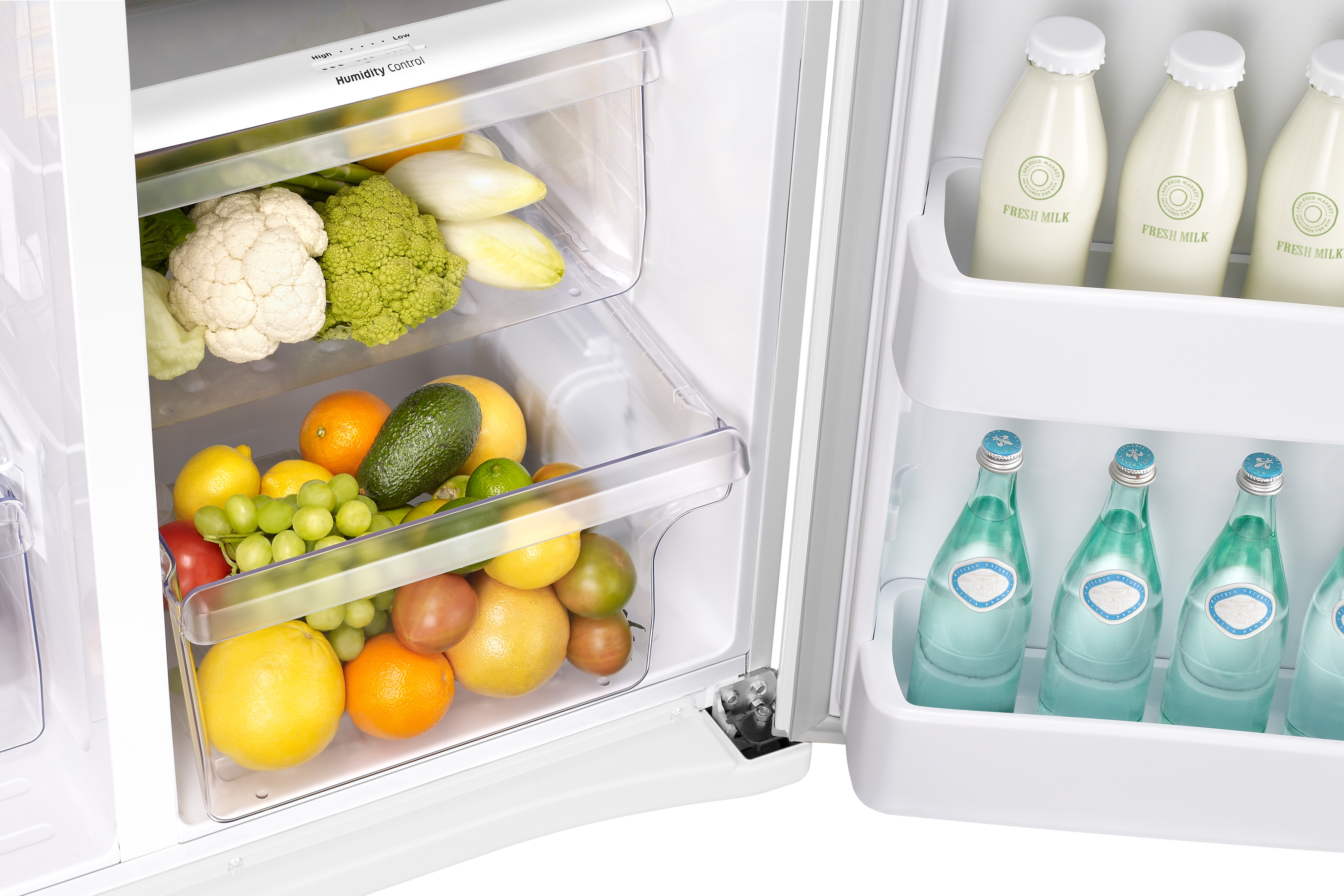 Samsung RS25J500DWW 25 cu. ft. Capacity Side-By-Side Refrigerator with LED Lighting White