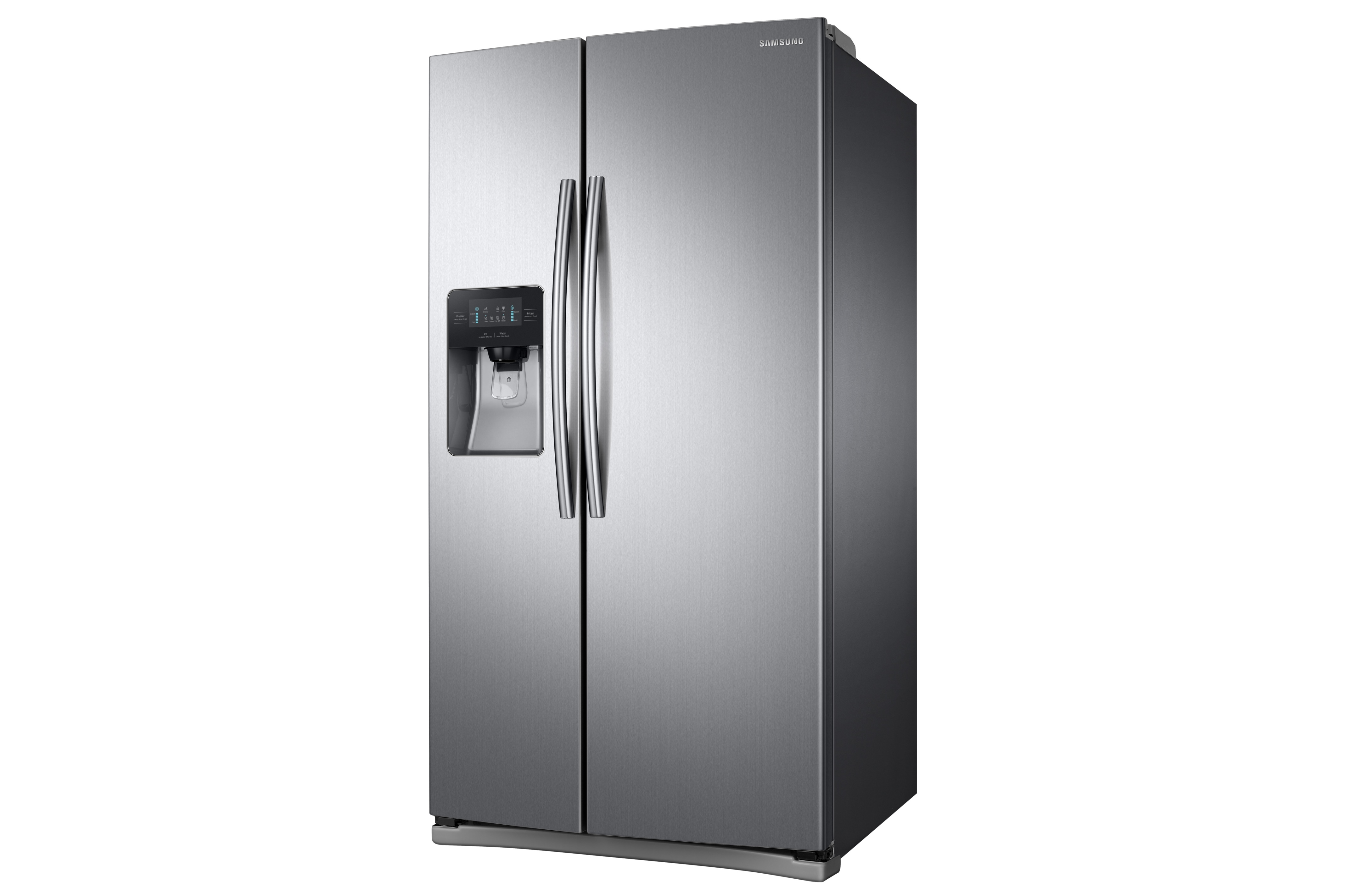 Samsung RS25J500DSR 25 cu. ft. Capacity Side-By-Side Refrigerator with LED Lighting Stainless Steel