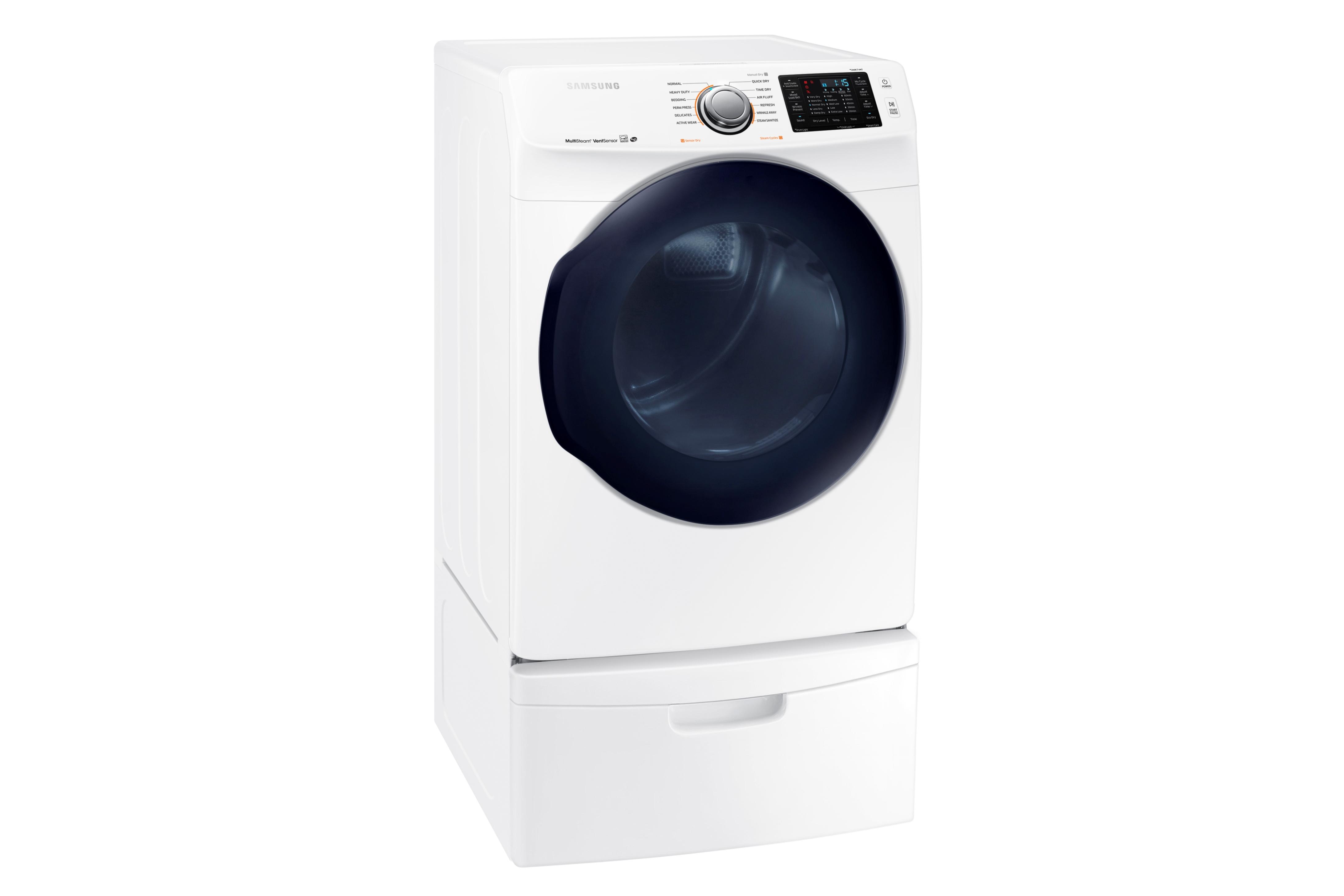 Samsung DV45K6200GW 7.5 cu. ft. Capacity Gas Dryer (White)