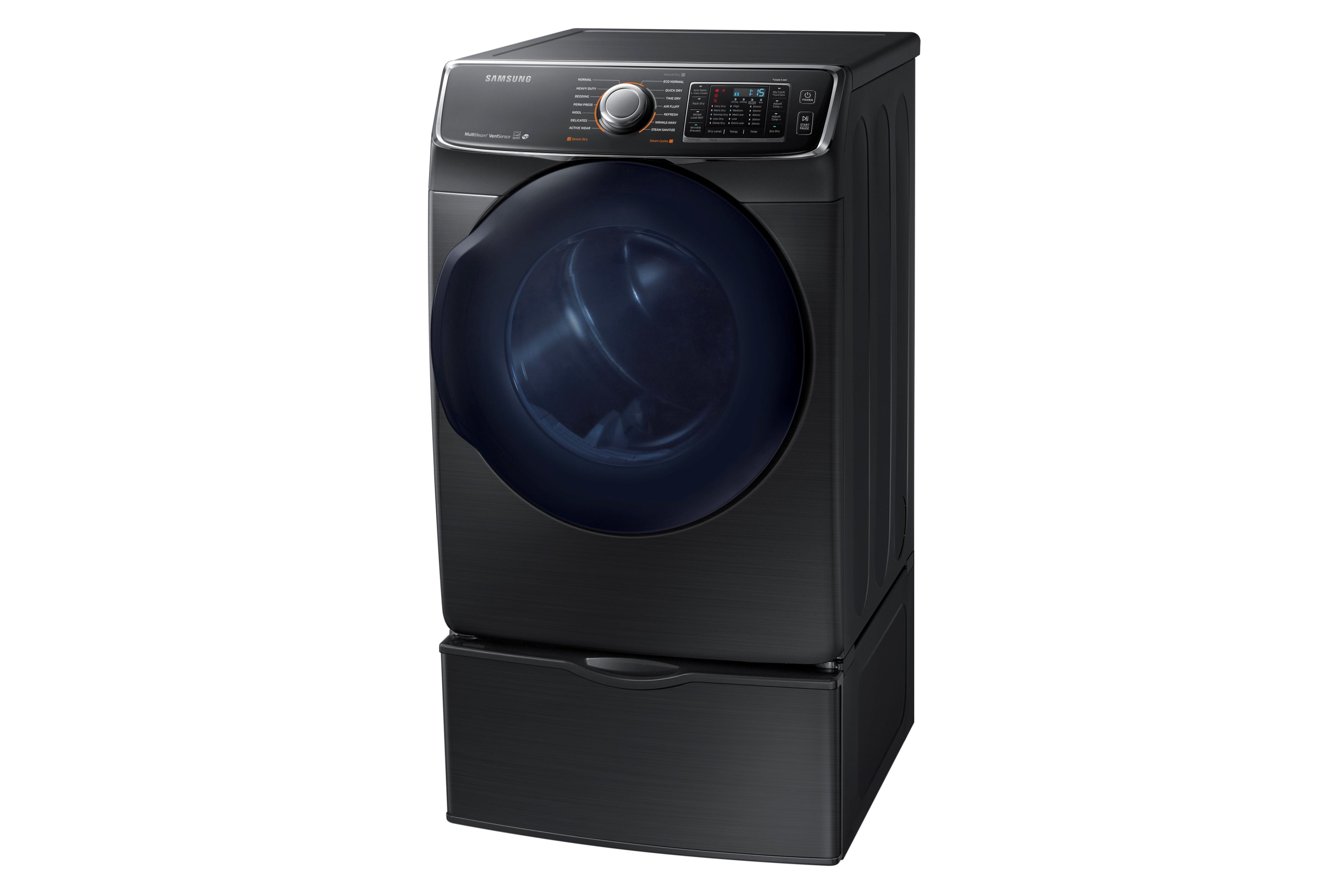 Samsung DV50K7500EV 7.5 cu. ft. Capacity Electric Dryer Black Stainless Steel