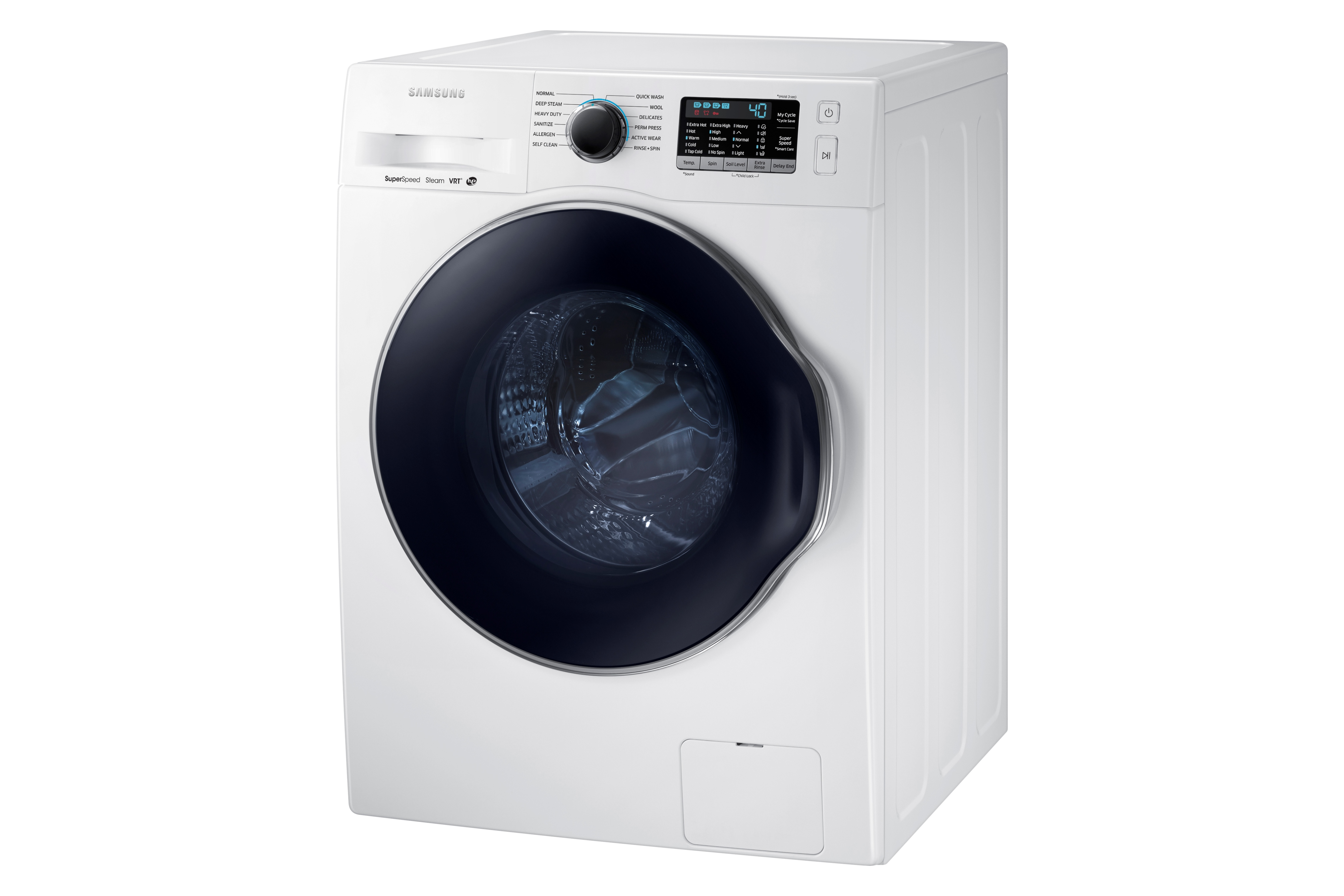 Samsung WW22K6800AW 2.2 cu. ft. Front Load Washer with Super Speed White