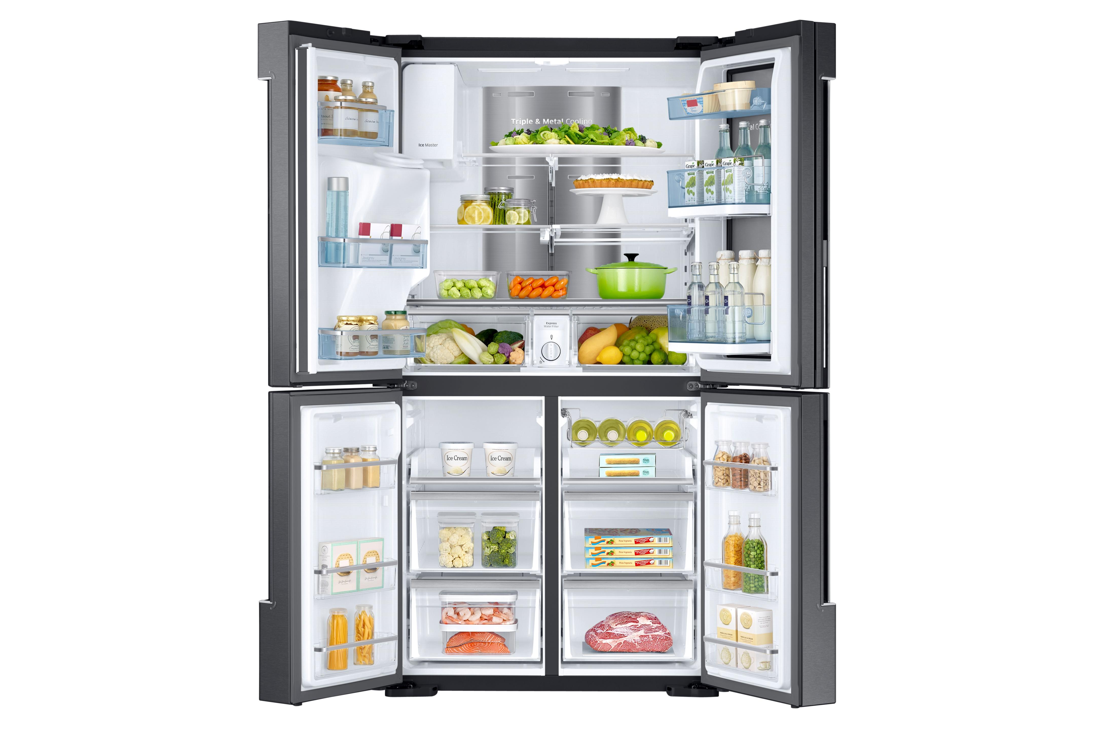 Samsung RF28K9380SG/AA 28 cu. ft. 4-Door Flex™ Food Showcase Refrigerator - Black Stainless Steel