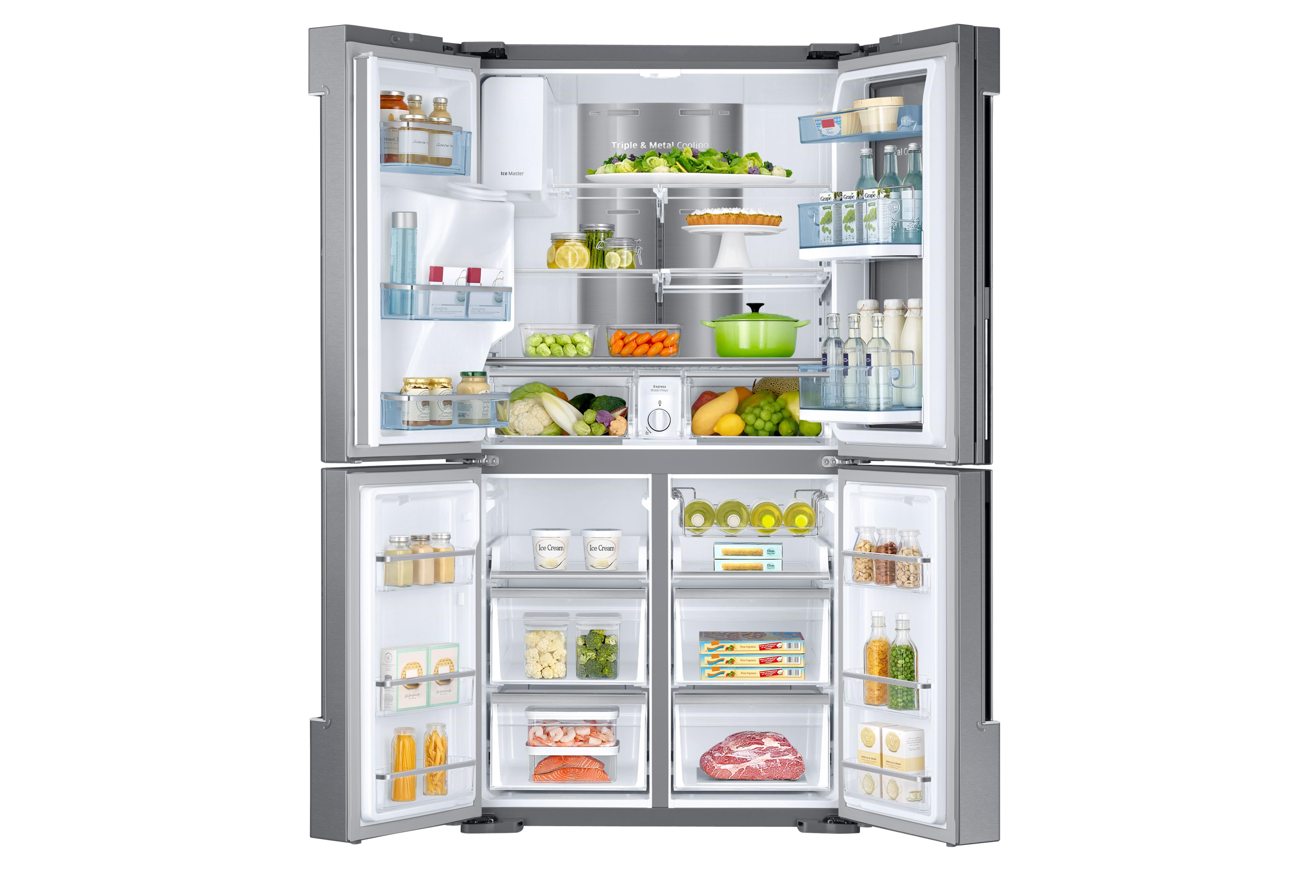 Samsung RF28K9380SR/AA 28 cu. ft. 4-Door Flex™ Food Showcase Refrigerator with FlexZone™ - Stainless Steel
