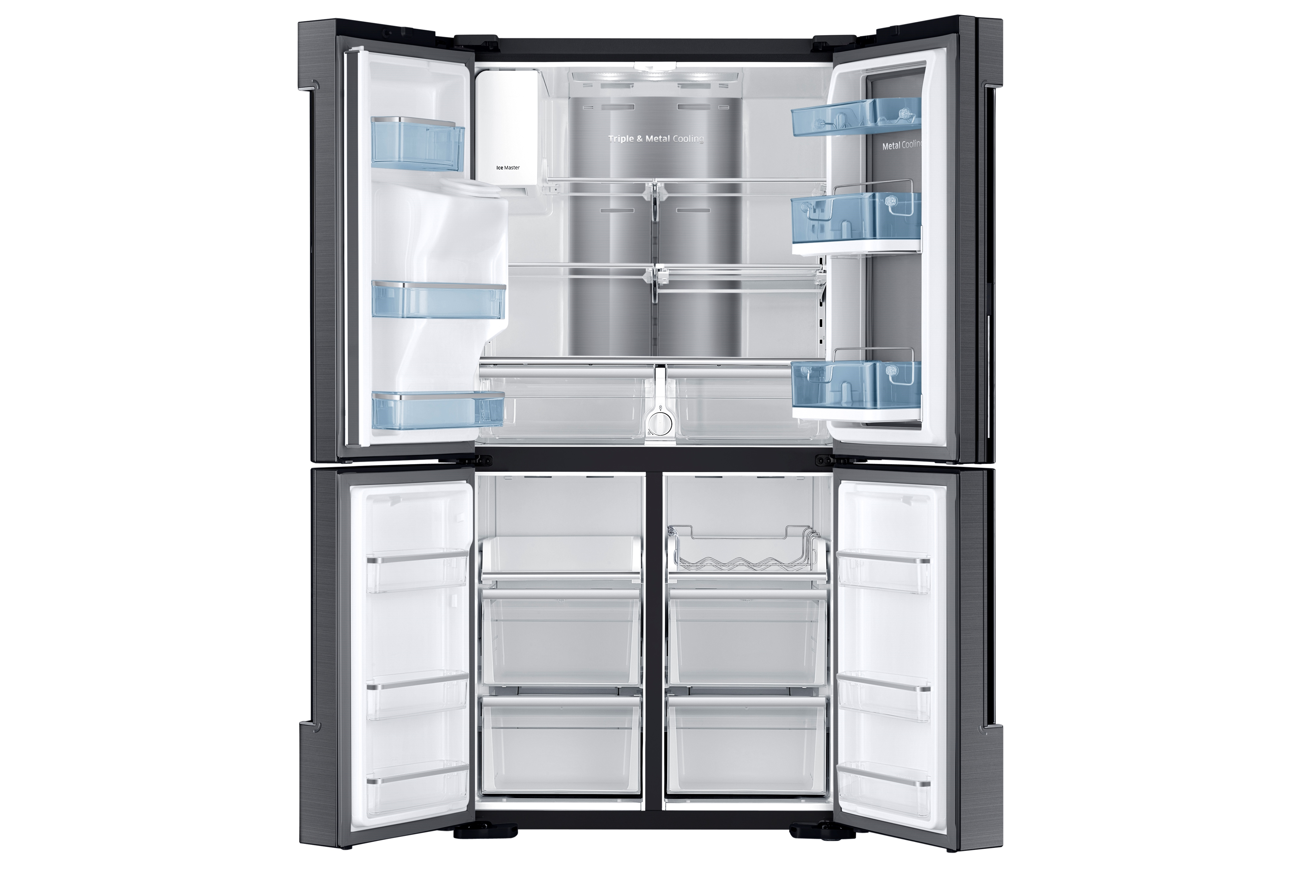 Samsung RF22K9381SG/AA 22.1 cu. ft. Counter Depth 4-Door Flex™ Food Showcase Refrigerator™ - Black Stainless Steel