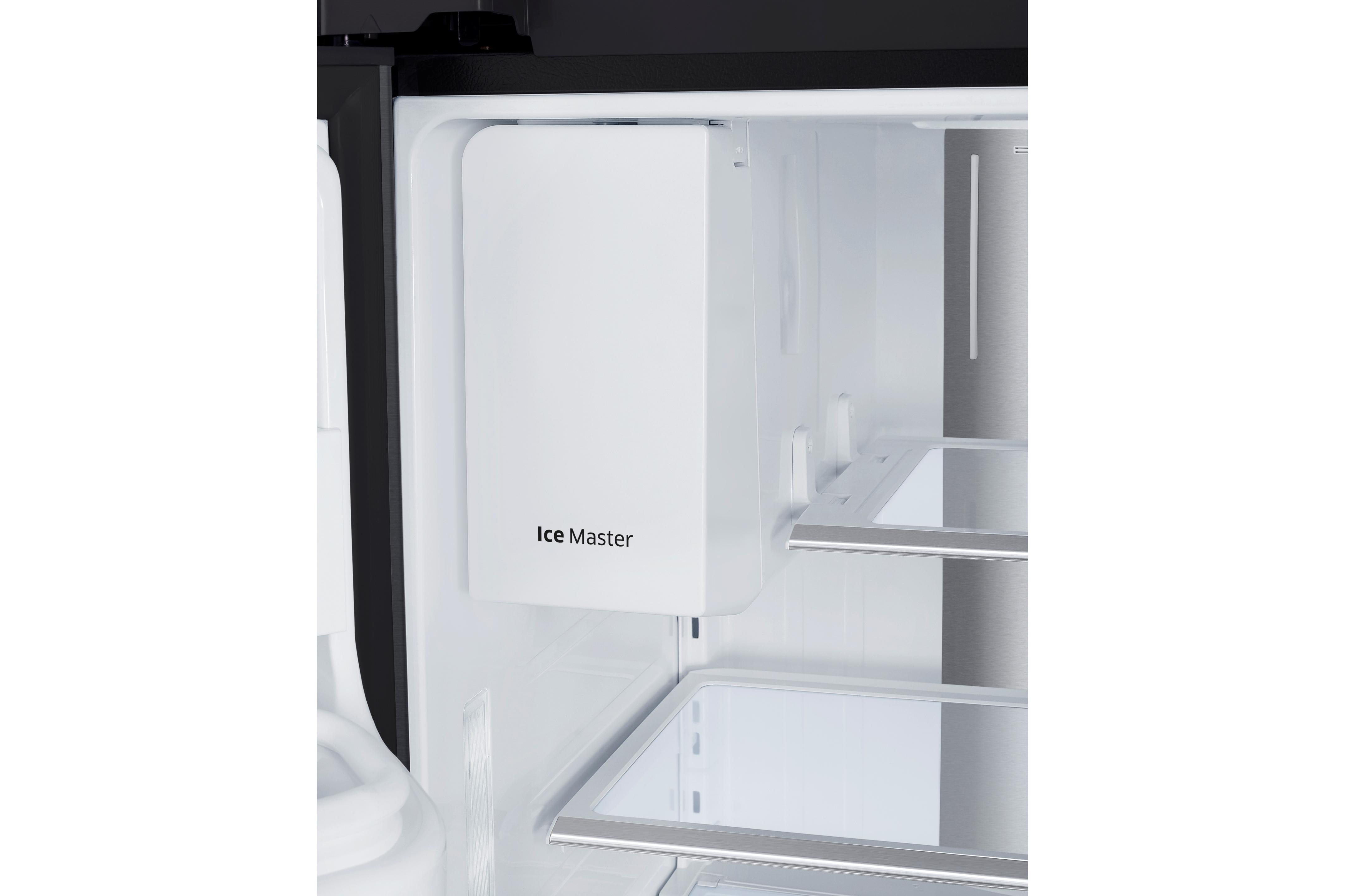 Samsung RF22KREDBSG/AA 22.4 cu. ft. Counter Depth 4-Door French Door Food Showcase Refrigerator - Black Stainless Steel