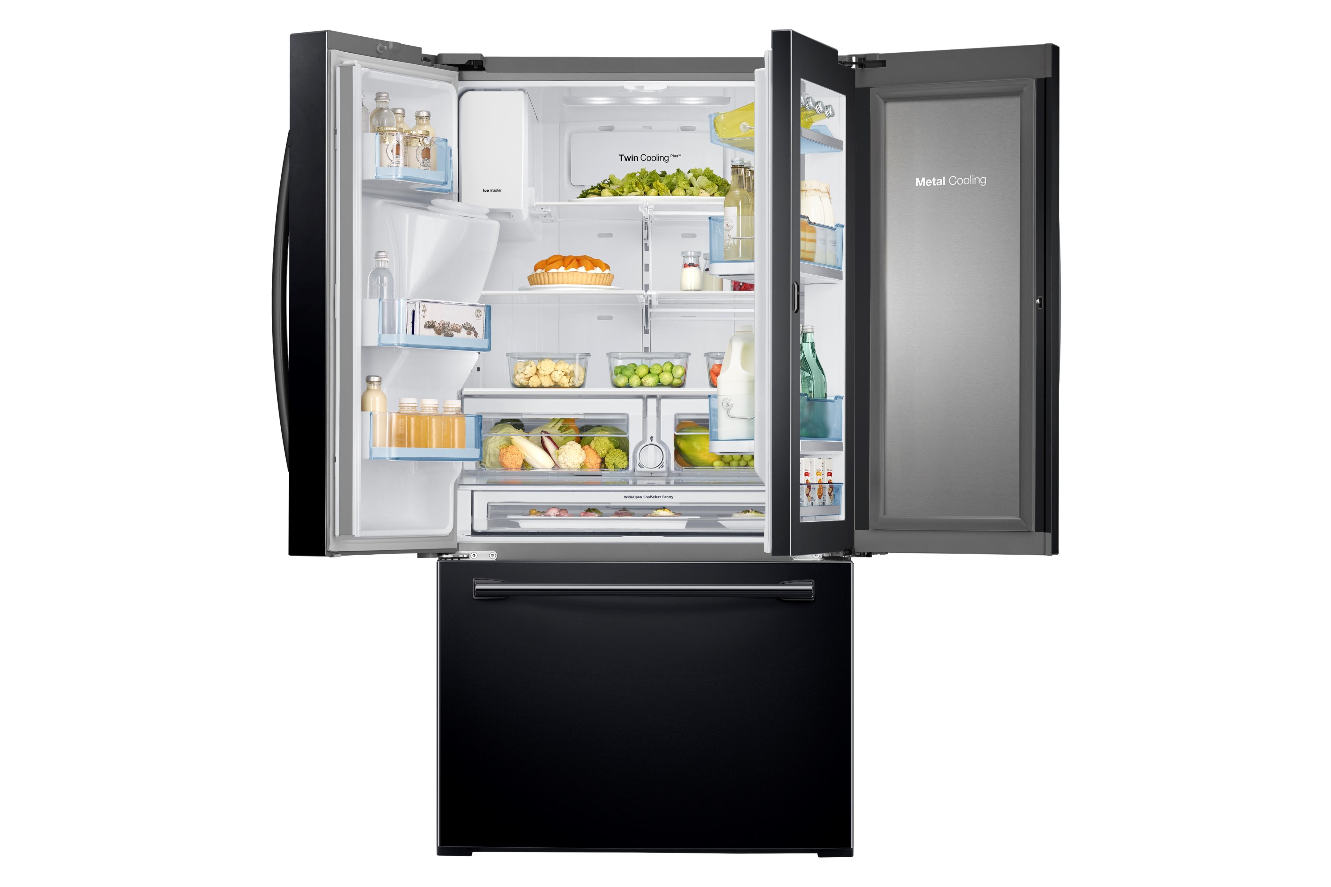 Samsung RF28HDEDPBC/AA 27.8 cu. ft. Capacity 3-Door French Door Food ShowCase Refrigerator - Black