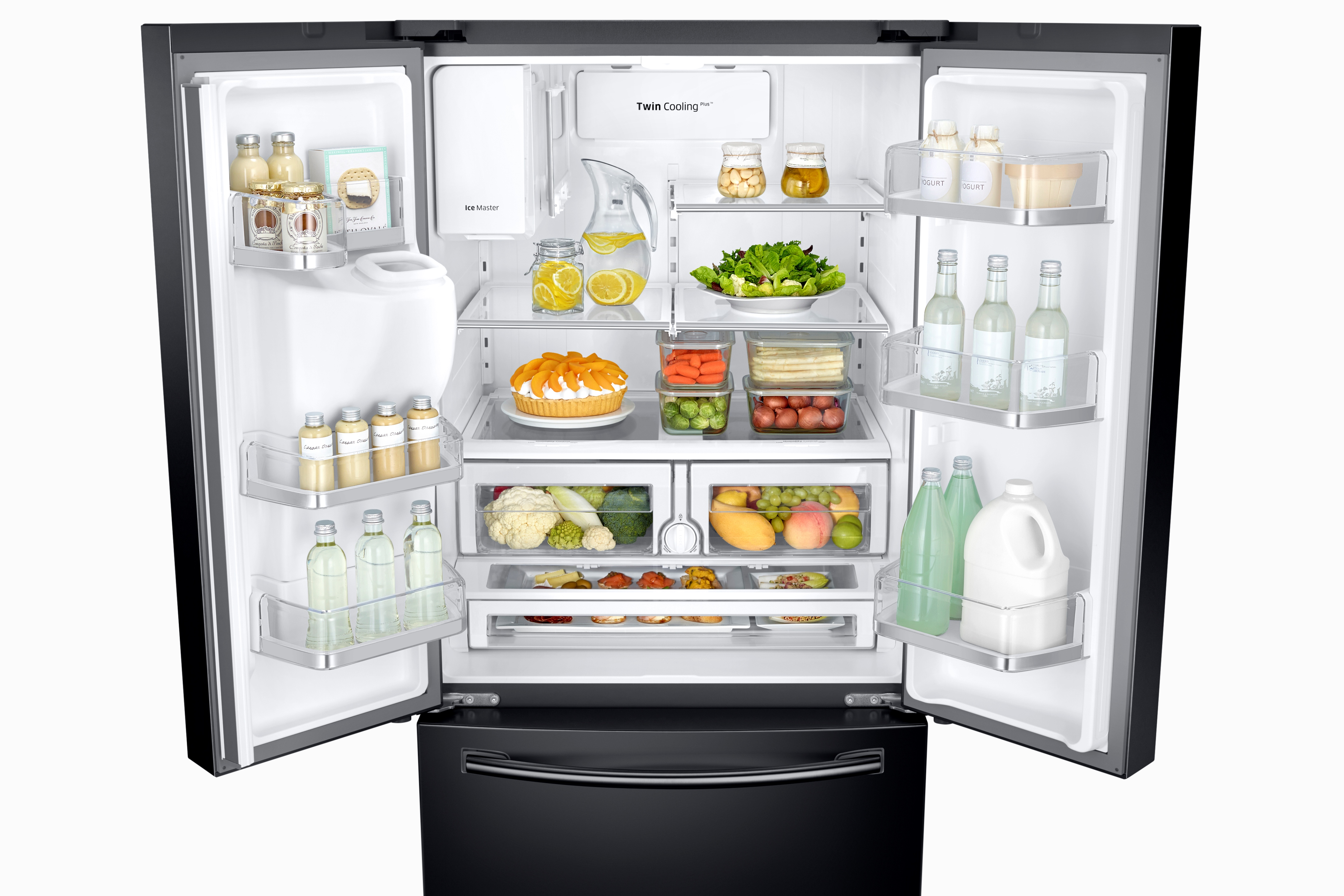 Samsung RF26J7500BC/AA 25.5 cu. ft. Capacity 3-Door French Door Refrigerator with CoolSelect Pantry™ - Black