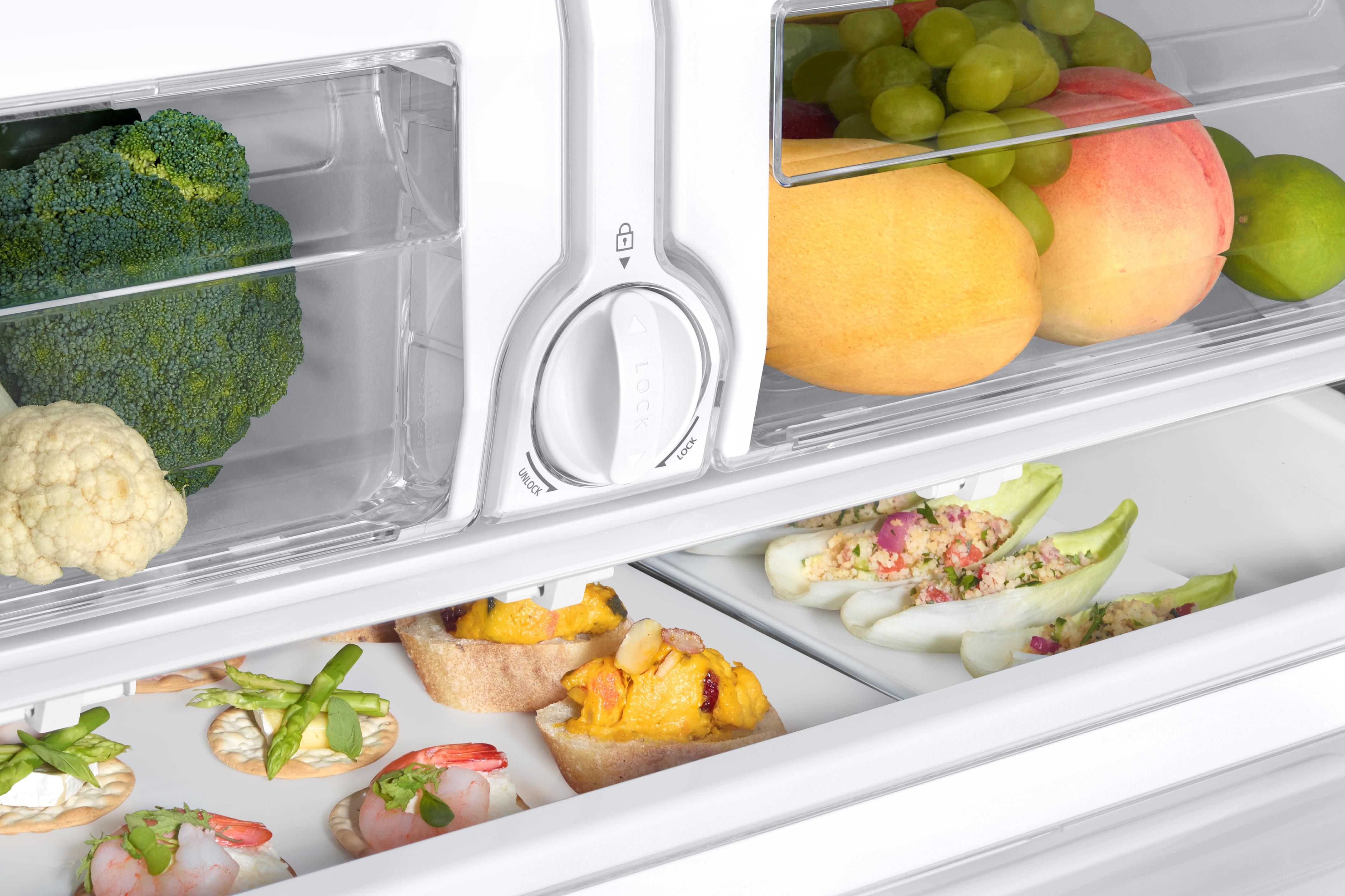 Samsung RF26J7500SR/AA 25.5 cu. ft. Capacity 3-Door French Door Refrigerator with CoolSelect Pantry™ - Stainless Steel