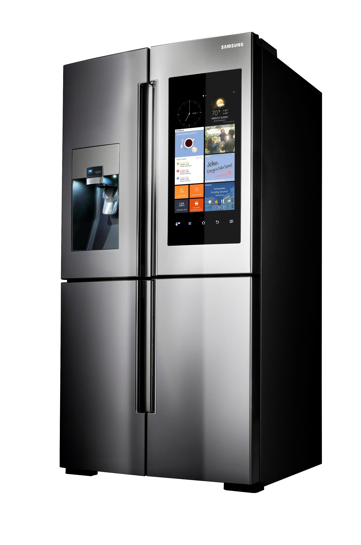 Samsung RF22K9581SR/AA 22 cu. ft. Capacity Counter Depth 4-Door Flex™ Refrigerator with Family Hub™ - Stainless Steel
