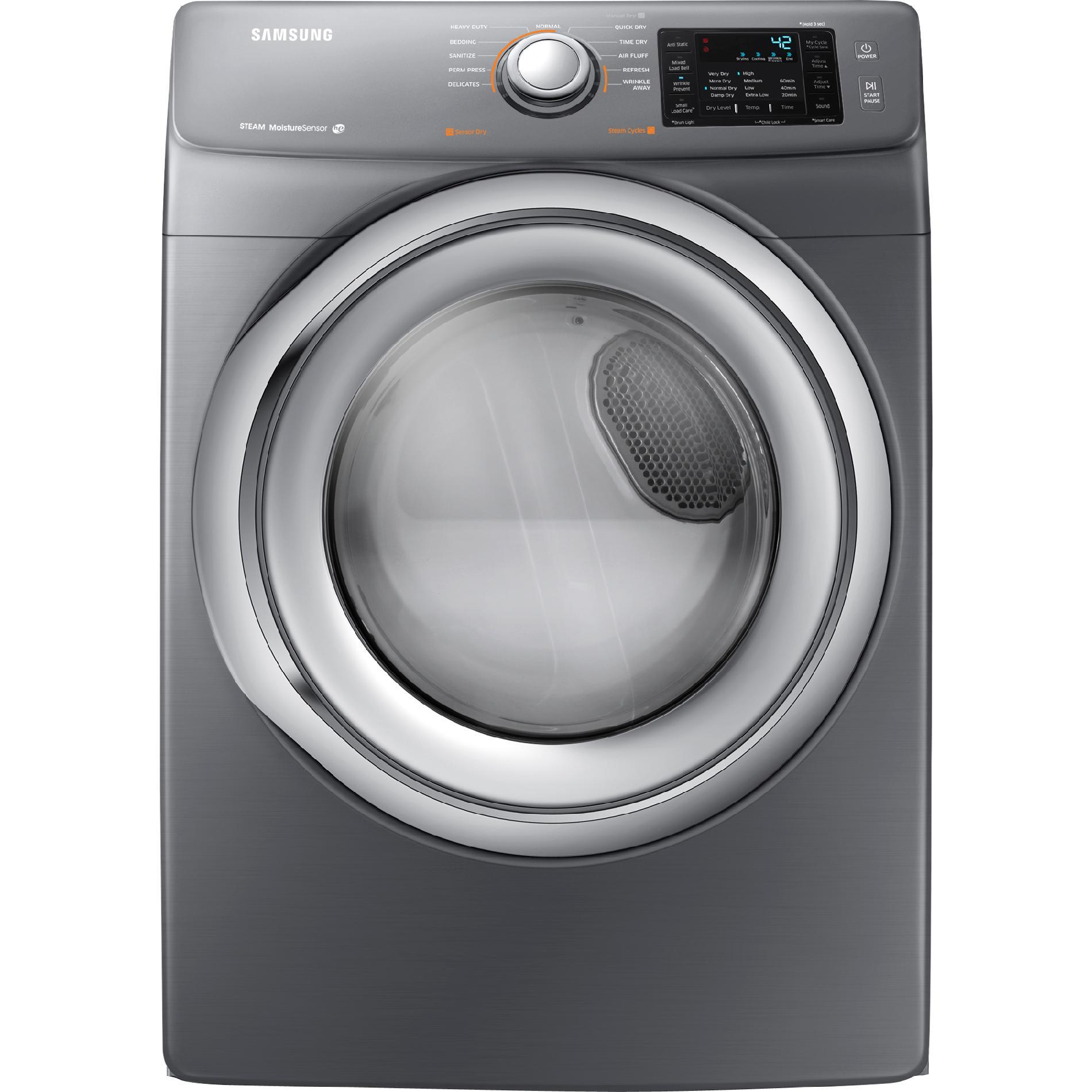 DV42H5200EP-7-5-cu-ft-Electric-Dryer-Stainless-Platinum