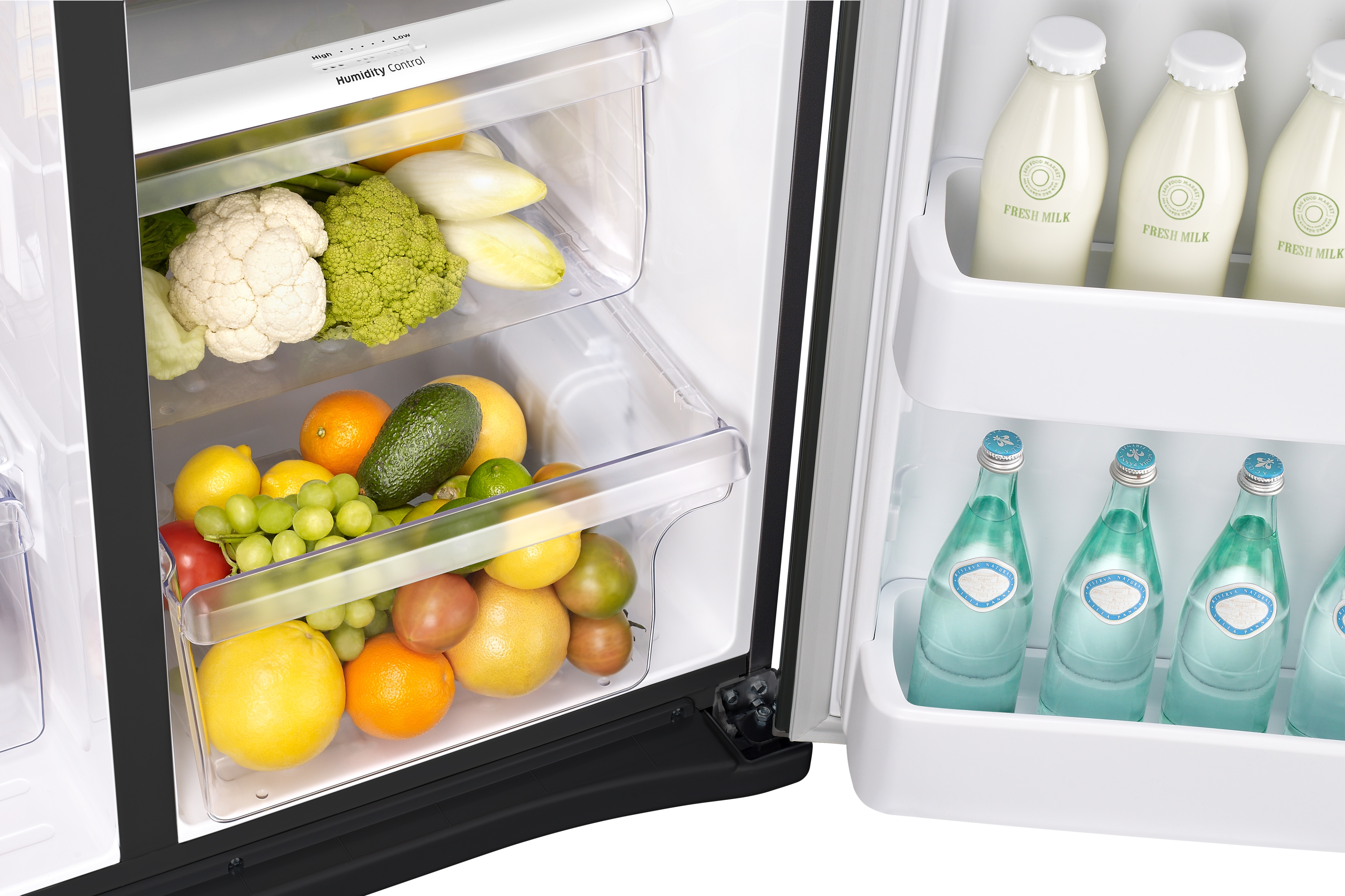 Samsung RS25J500DBC/AA 24.5 cu. ft. Side-By-Side Refrigerator with LED Lighting