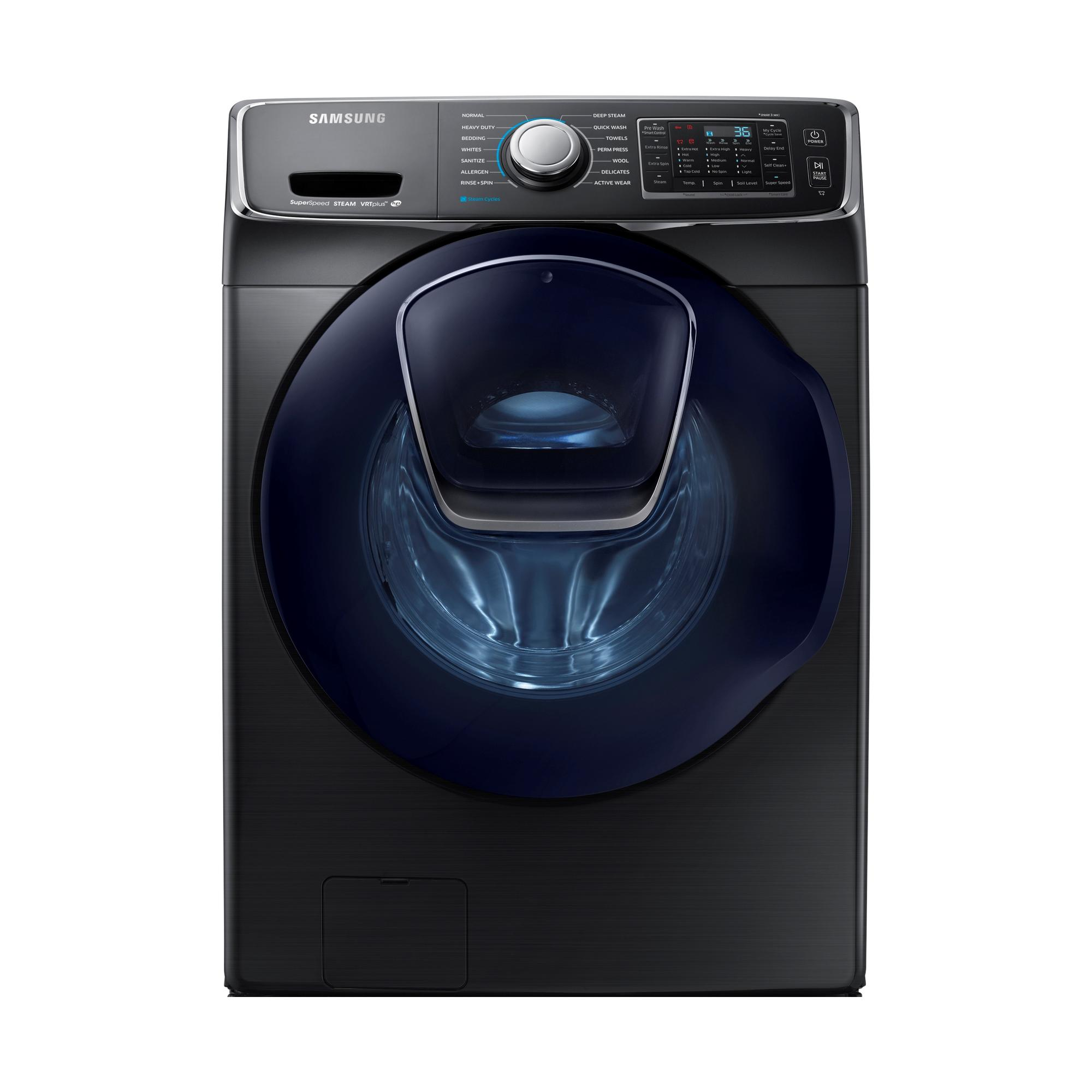 WF45K6500AV-4-5-cu-ft-Front-Load-Washer-w-AddWash-Black-Stainless-Steel