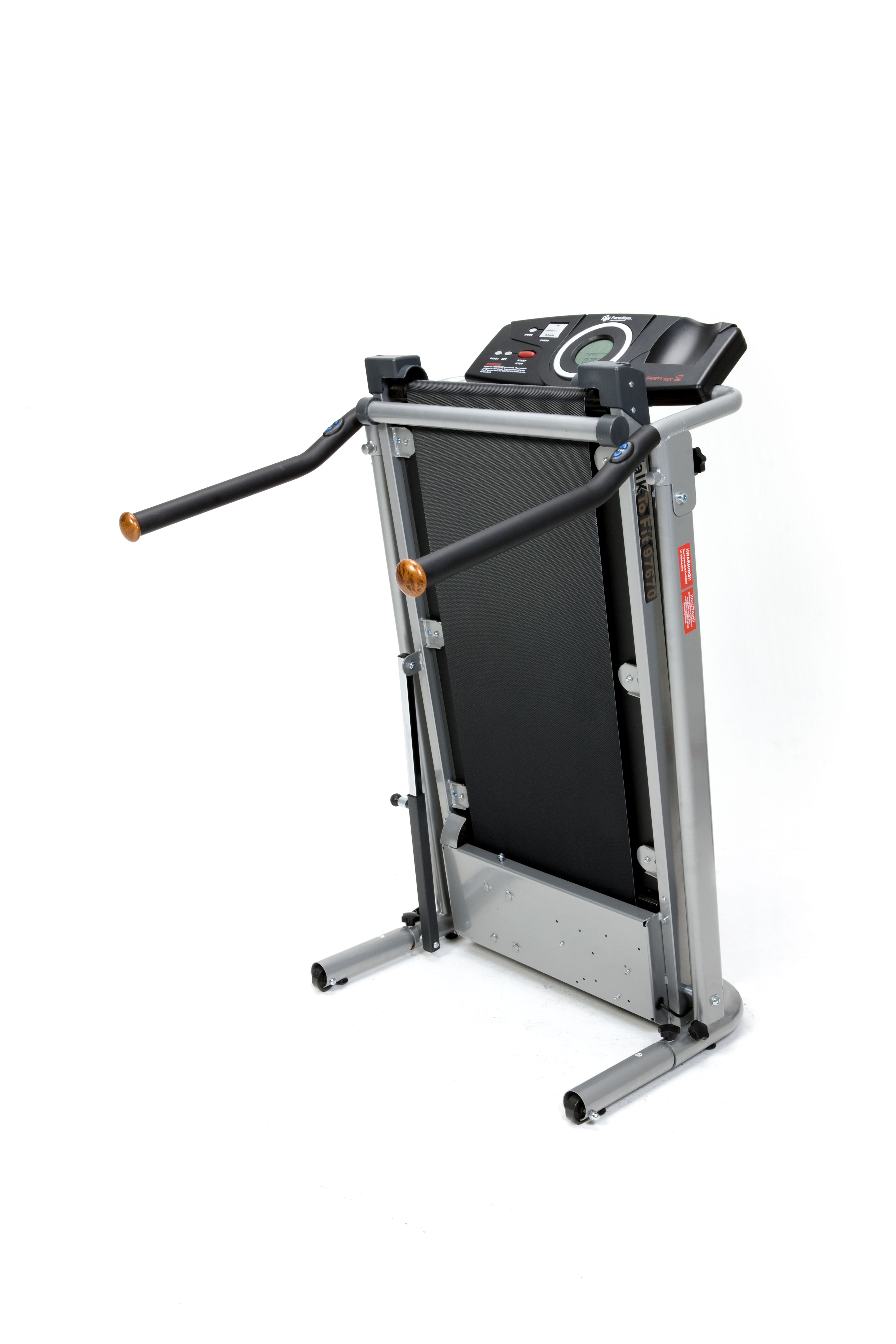 "Exerpeutic 350LS Heavy Duty Fitness Walking Treadmill with LCD Display and 18"" Handles"