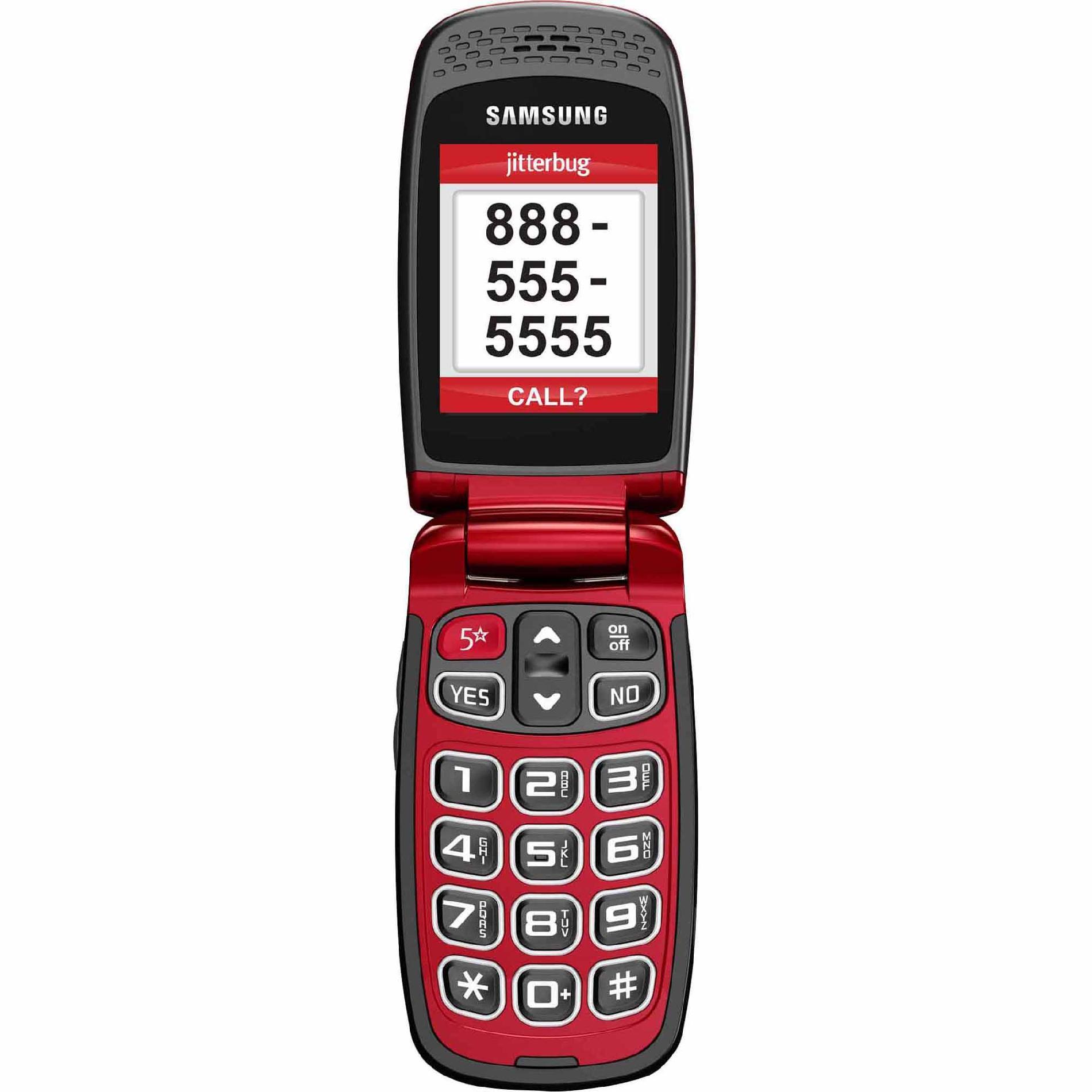 Jitterbug plus Jitterbug5 - Red (Samsung)