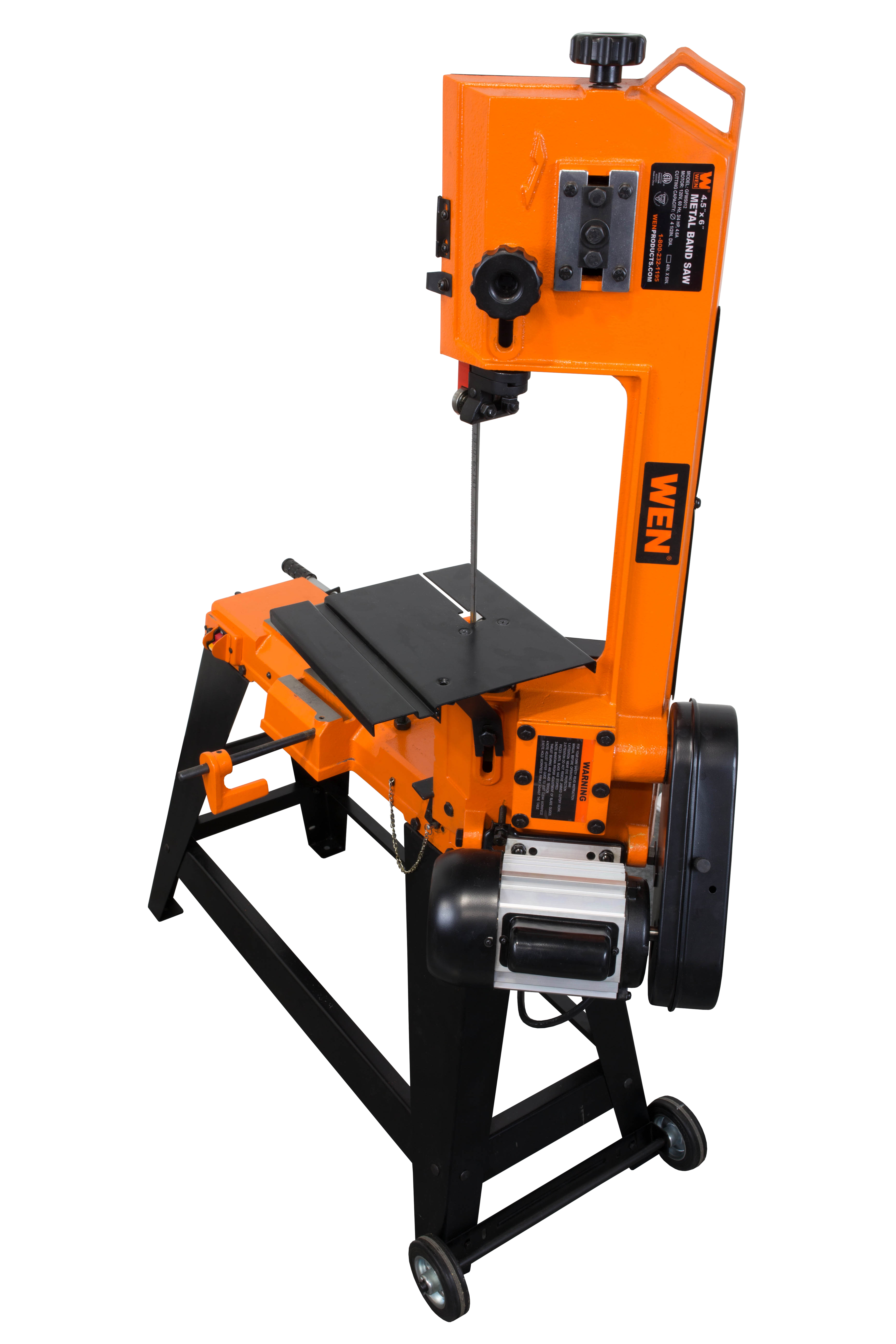 Wen 4-by-6-Inch Metal-Cutting Band Saw with Stand