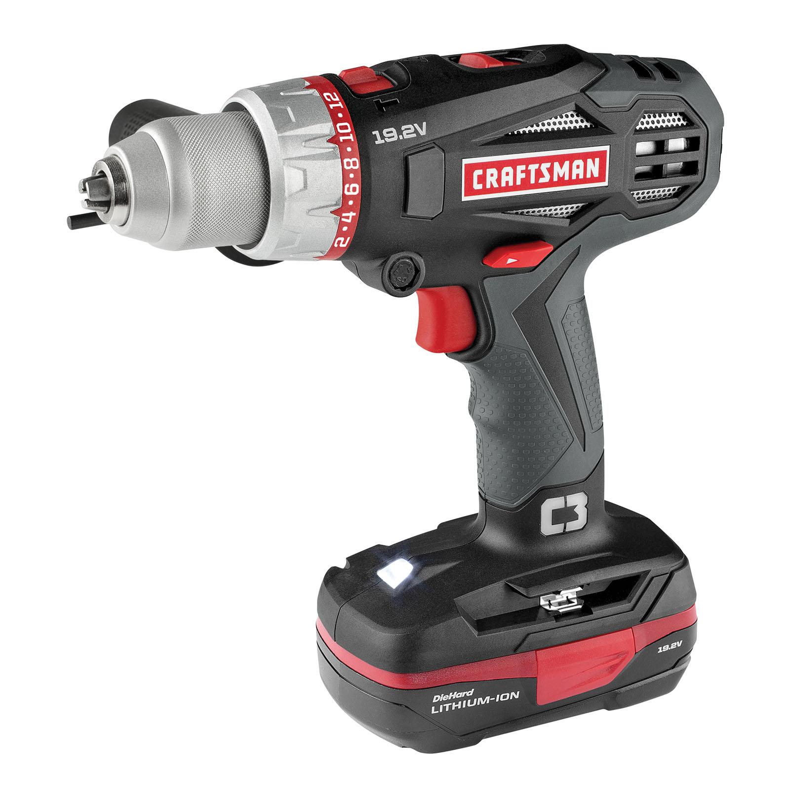 Craftsman C3 19.2-volt 2-speed Hammer Drill Kit