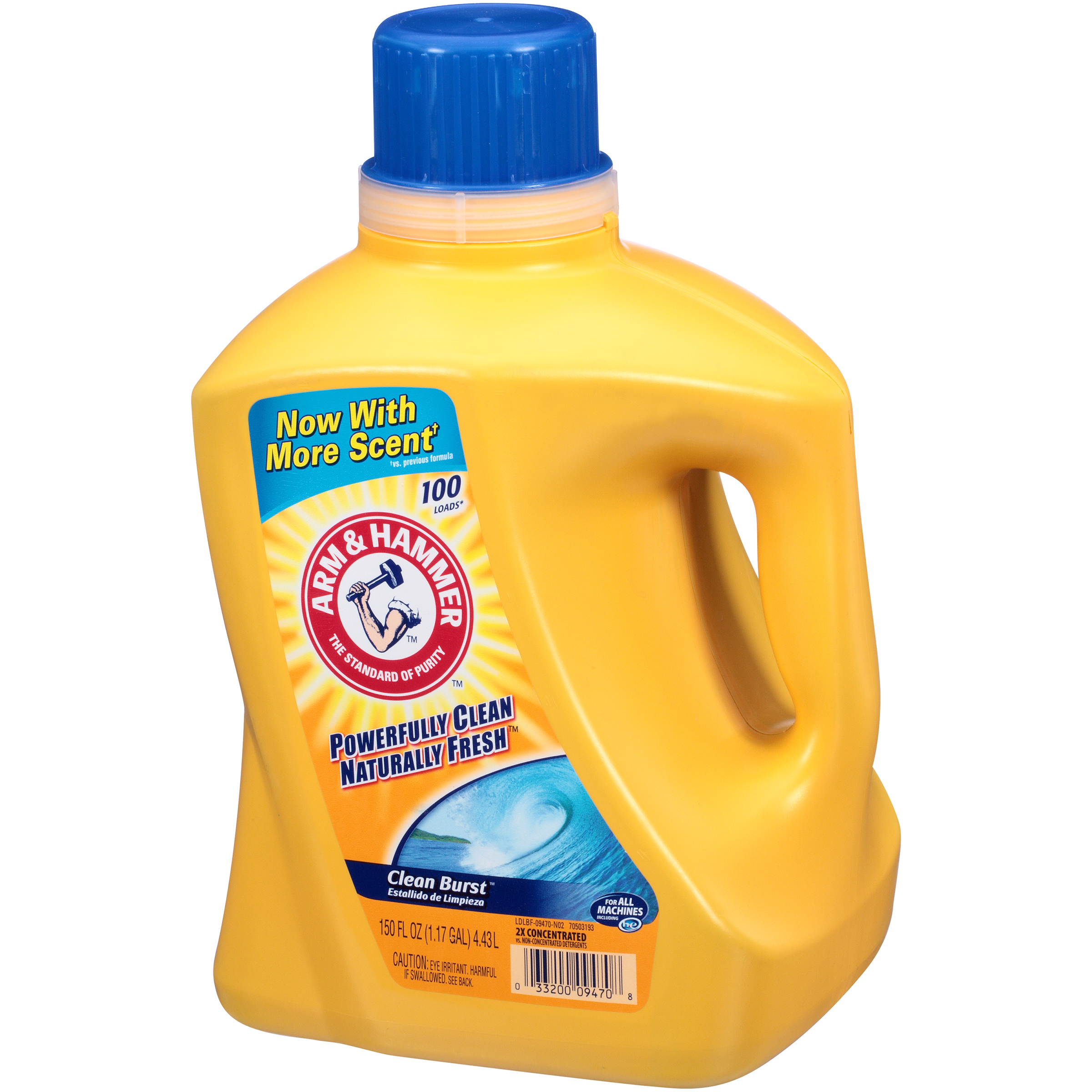 Arm & Hammer 2X Concentrated Clean Burst Liquid Laundry Detergent 150 FL OZ JUG